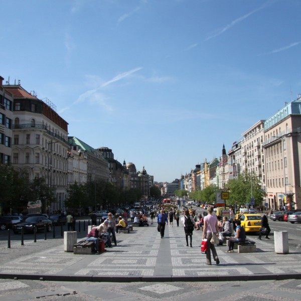 Wenceslasplein - Praag - Tsjechië
