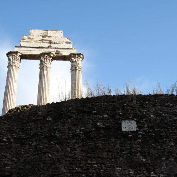 Tempel van Castor en Pollux - Rome - Italië
