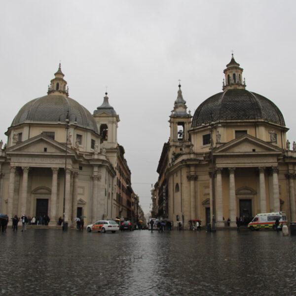 Santa Maria dei Miracoli en Santa Maria in Montesanto - Rome - Italië