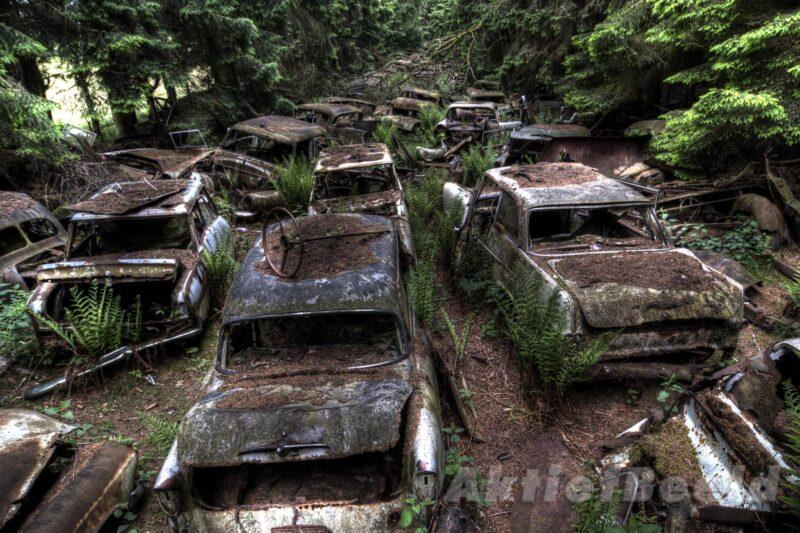 Verdwenen hotspot: Autokerkhof in Châtillon