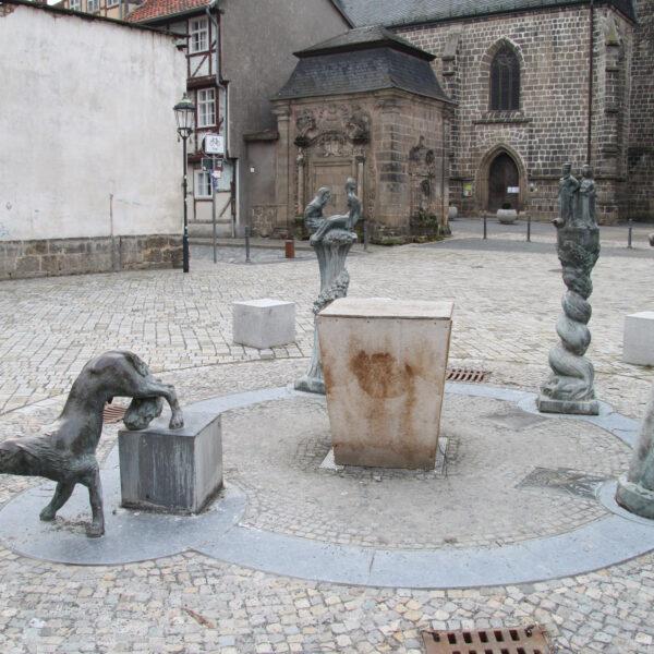 Kornmarkt - Quedlinburg - Duitsland