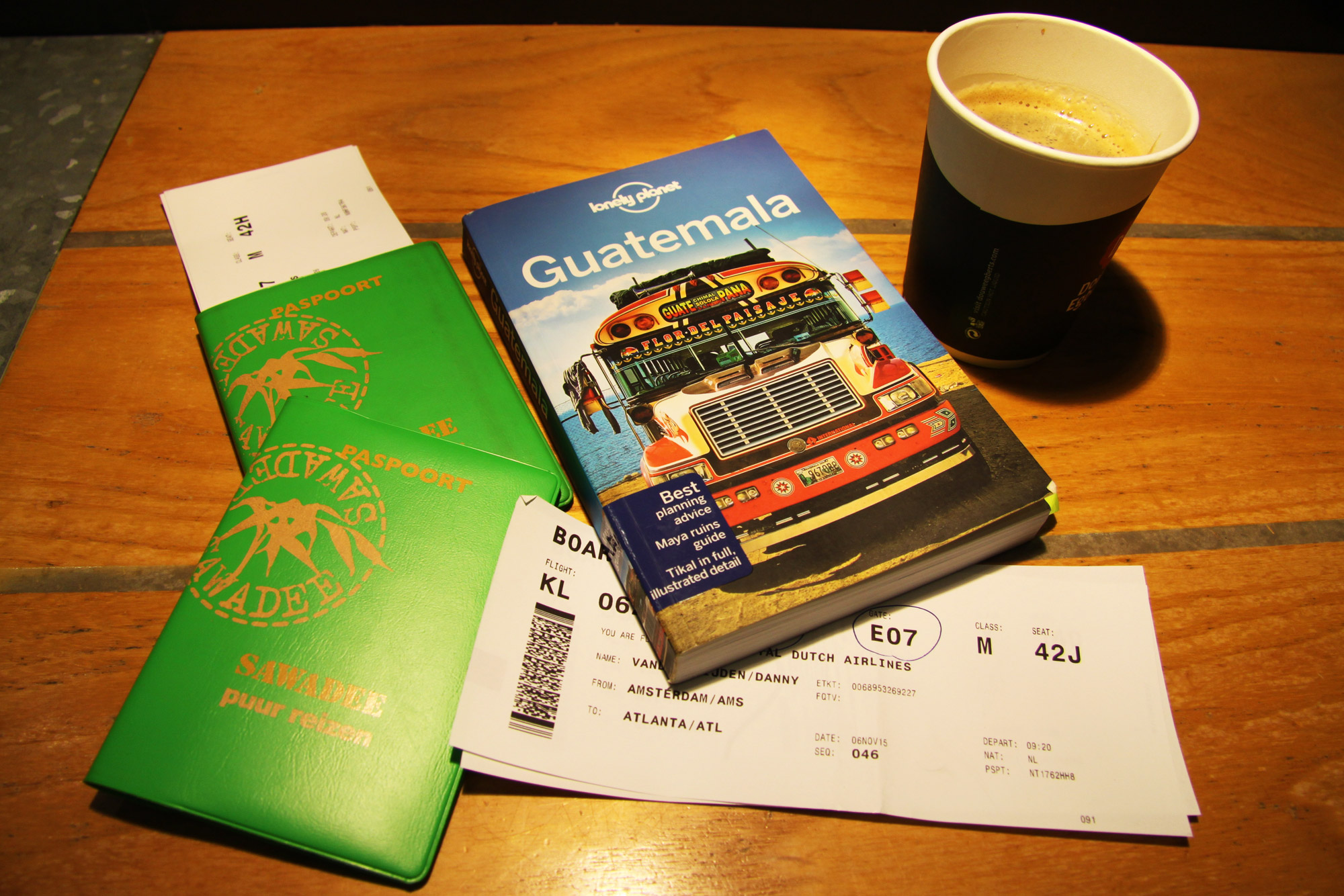 Guatemala 2015 - dag 1 - Op weg naar Guatemala