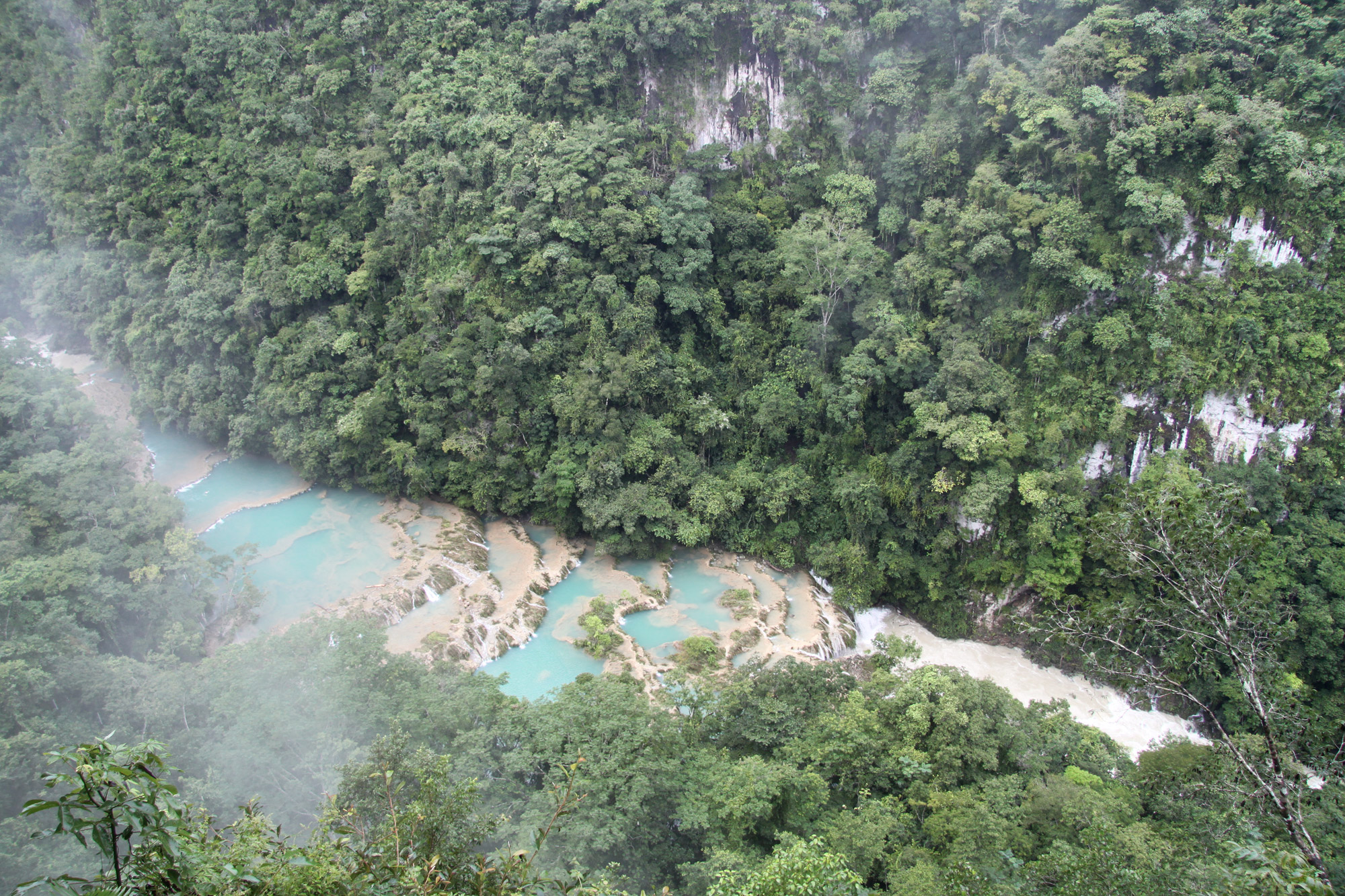 Guatemala 2015 - dag 11 - Uitzicht op Semuc Champey
