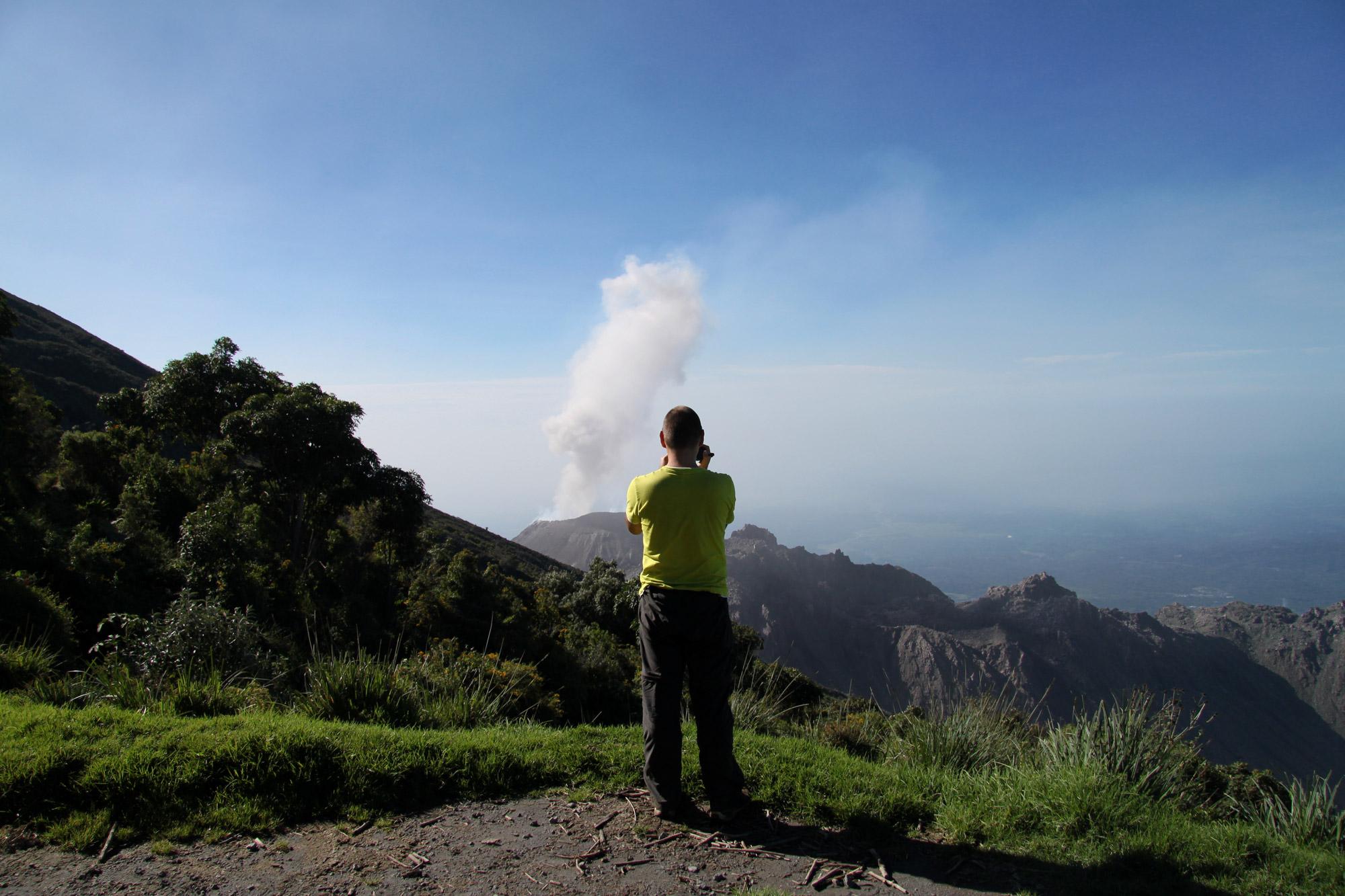 Guatemala 2015 - dag 12 - Uitbarsting van de Volcán Santiaguito