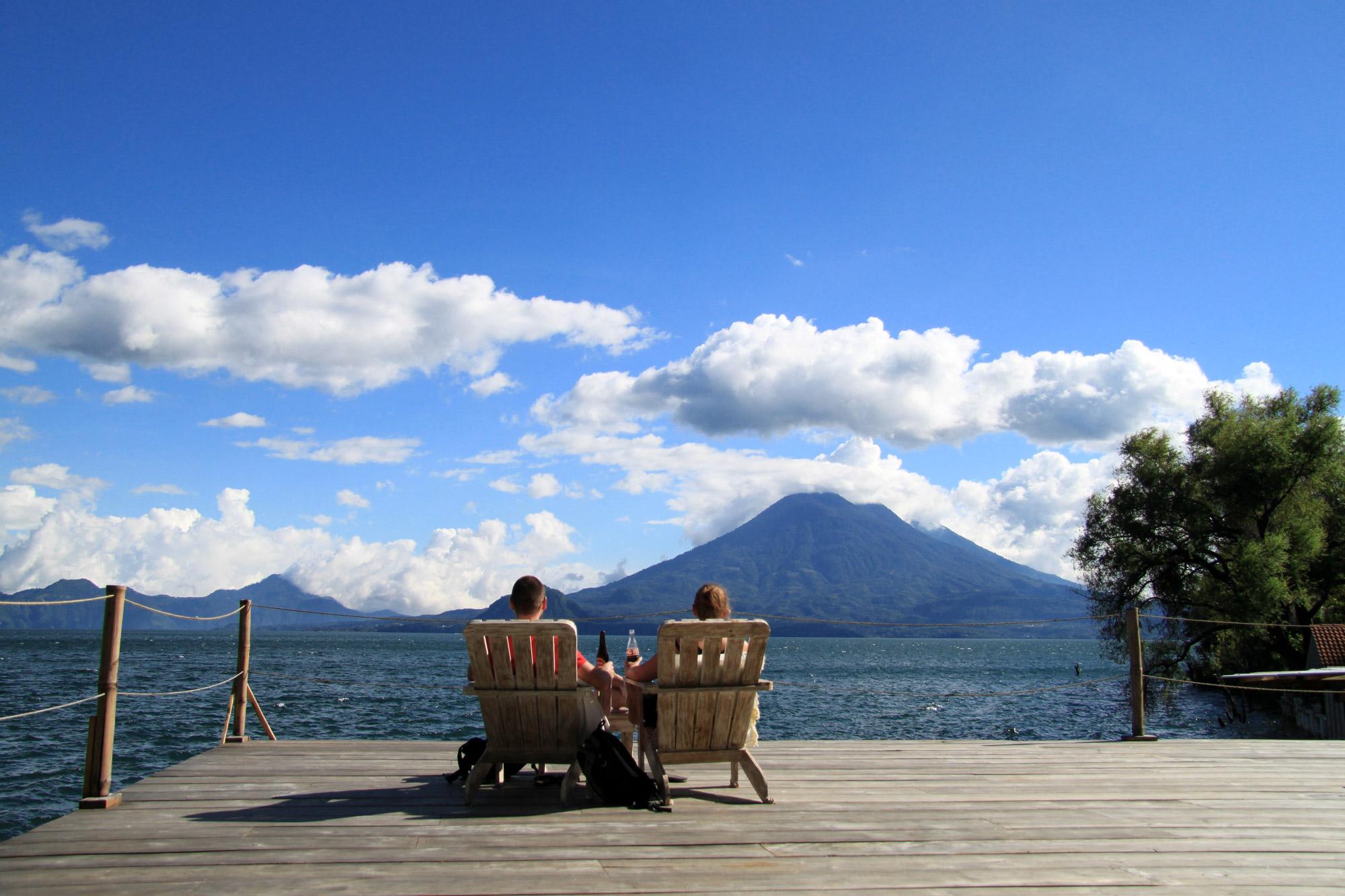 Guatemala 2015 - dag 19 - Relaxen bij ons hotel in Santa Cruz la Laguna