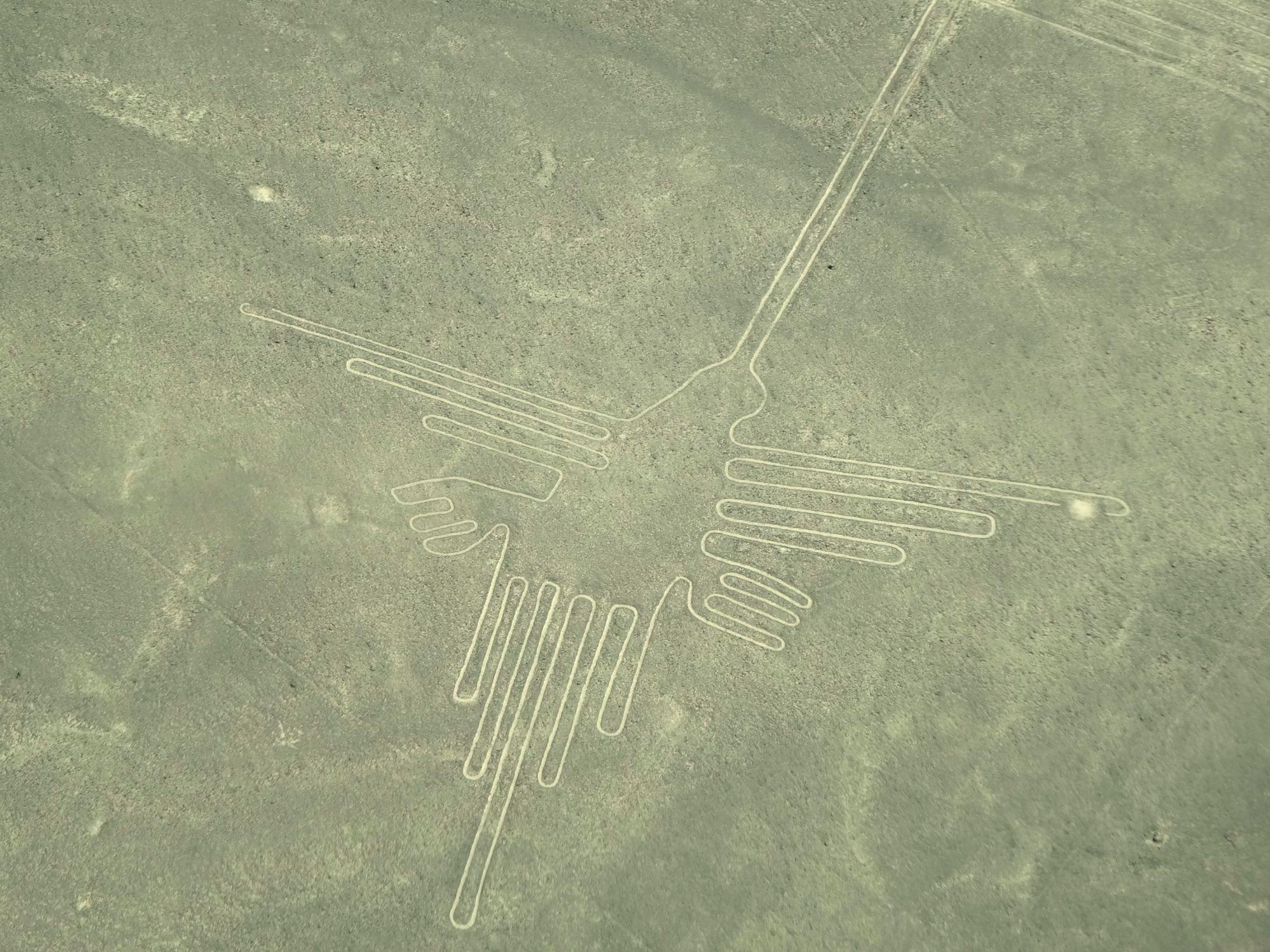 Peru reis - Nazca lijnen van een vogel