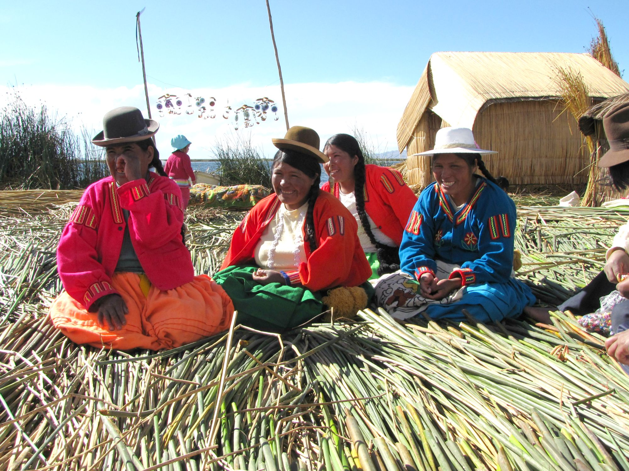 Peru reis - Quechua indianen bij het Titicaca meer