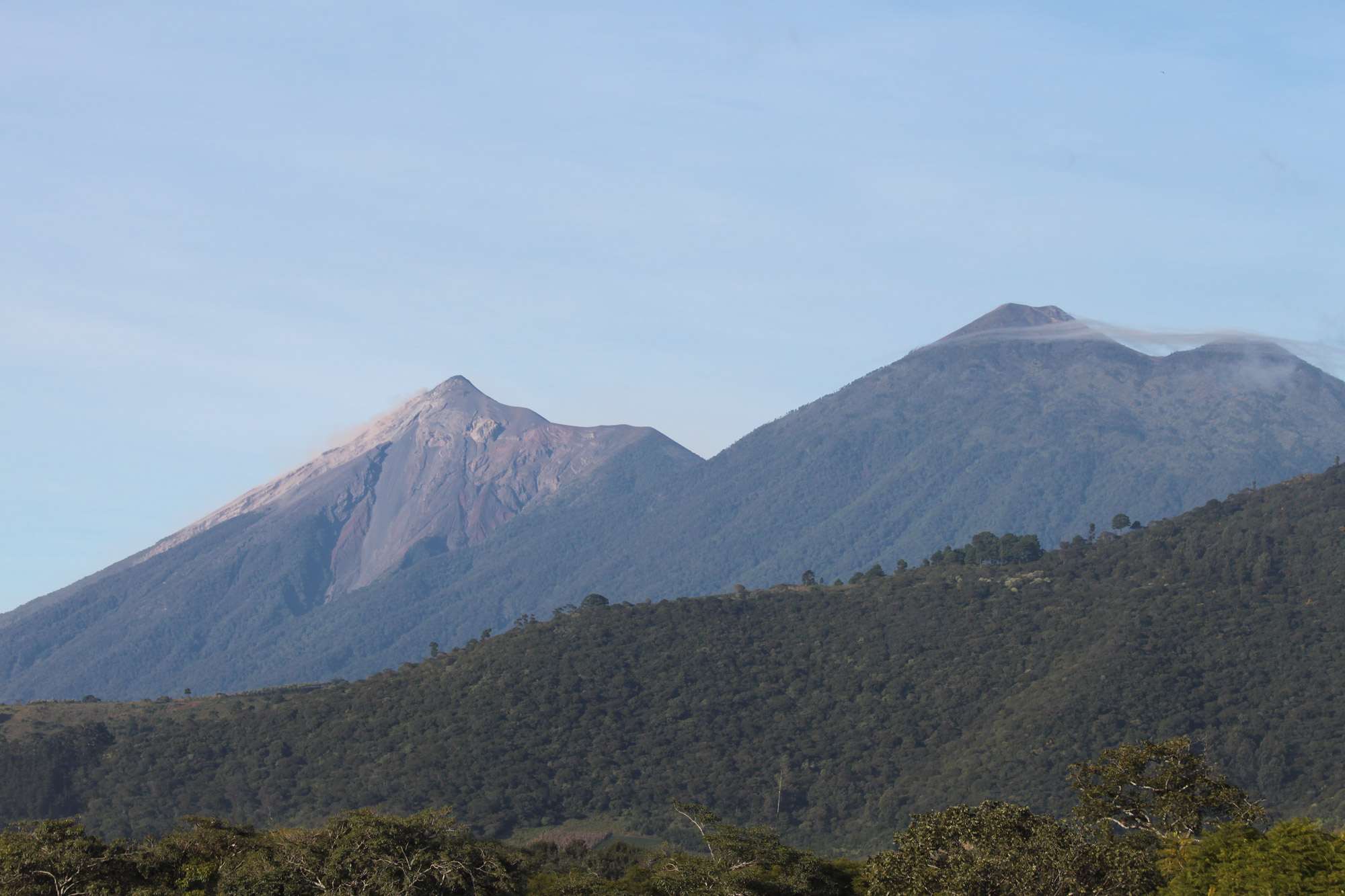 Top 5 vulkanen die je moet beklimmen in Guatemala - Volcán Acatenango en Volcán de Fuego