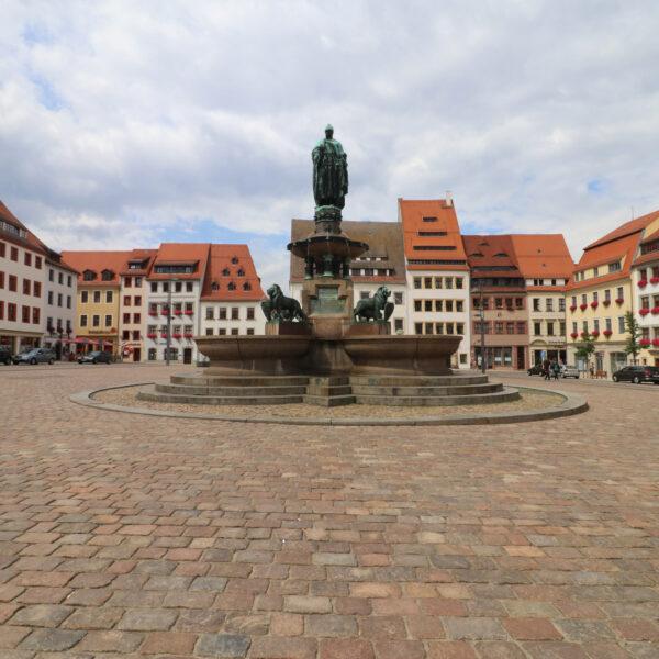 Brunnendenkmal Otto der Reiche - Freiberg - Duitsland