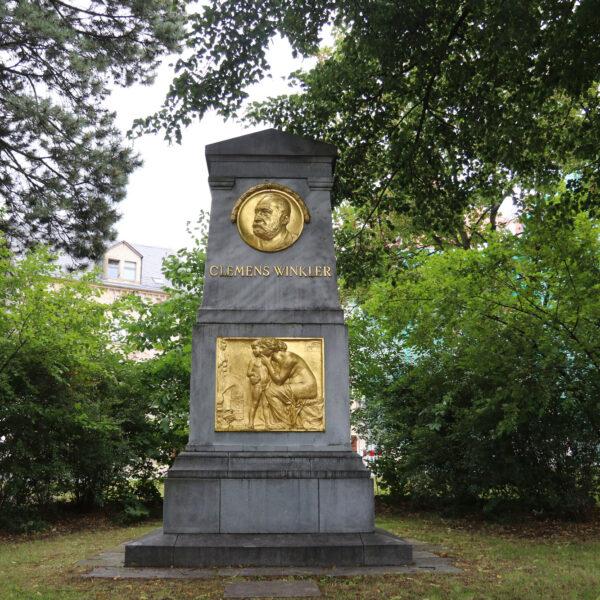 Clemens-Winkler-Denkmal - Freiberg - Duitsland