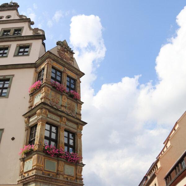 Erker van Burgstrasse 5 - Freiberg - Duitsland
