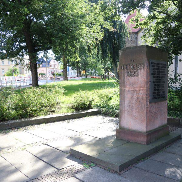 Gedenkstätte für Oktoberopfer - Freiberg - Duitsland