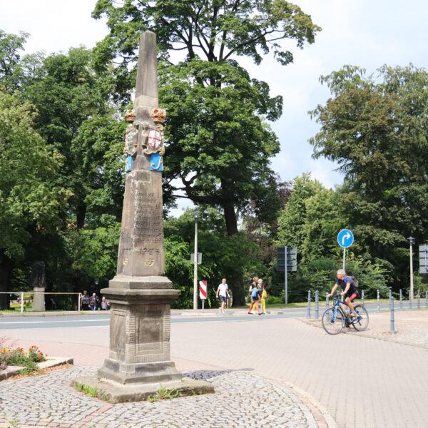 Mijlpalen in Freiberg - Freiberg - Duitsland