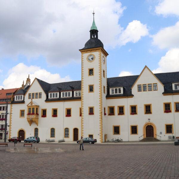 Rathaus - Freiberg - Duitsland