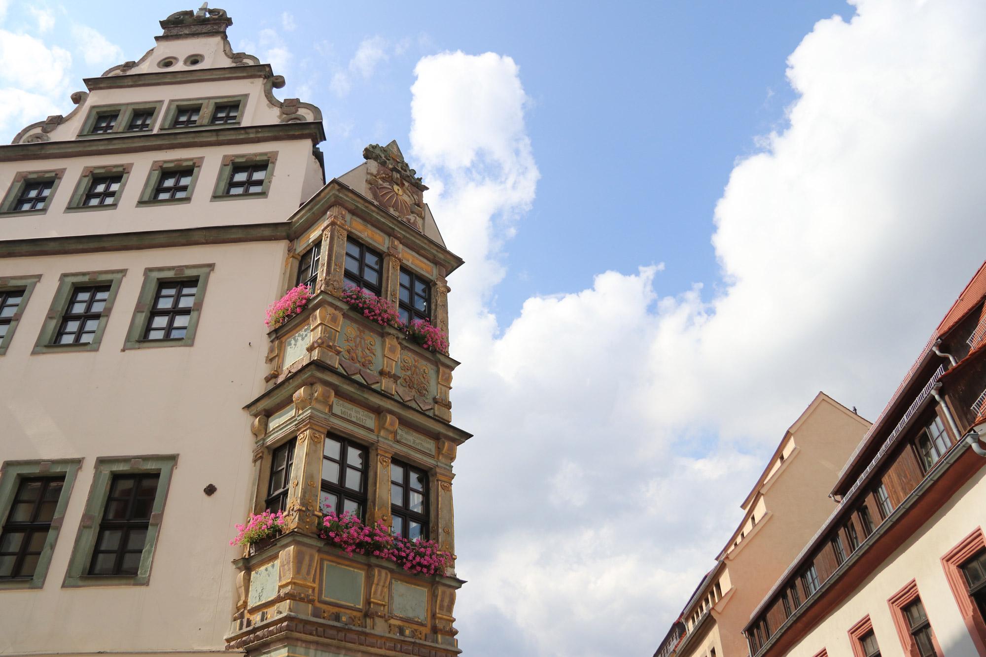 Weekendje Freiberg in 10 beelden - Mooie architectuur zoals deze Erker