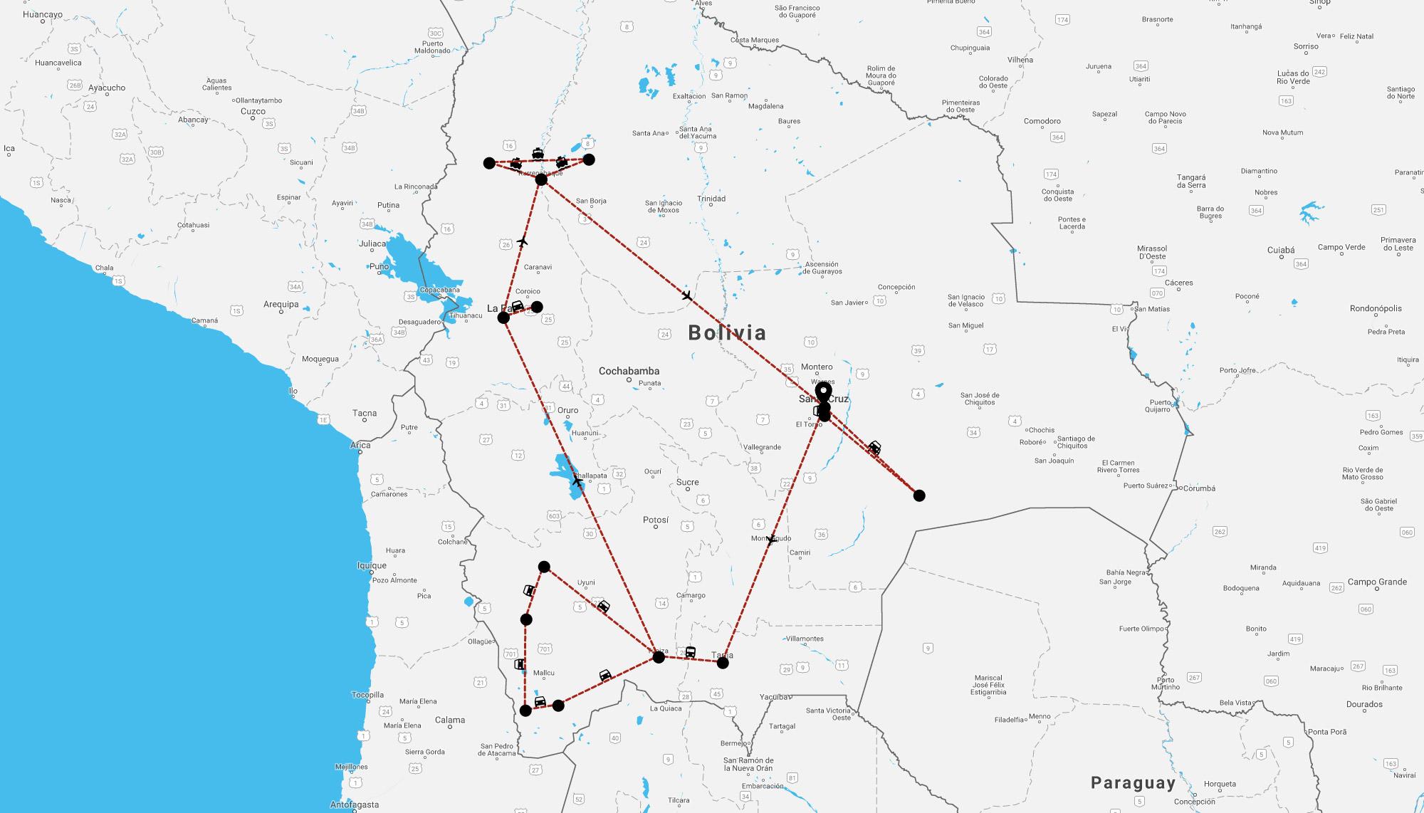 Onze volgende bestemming, Bolivia - de route