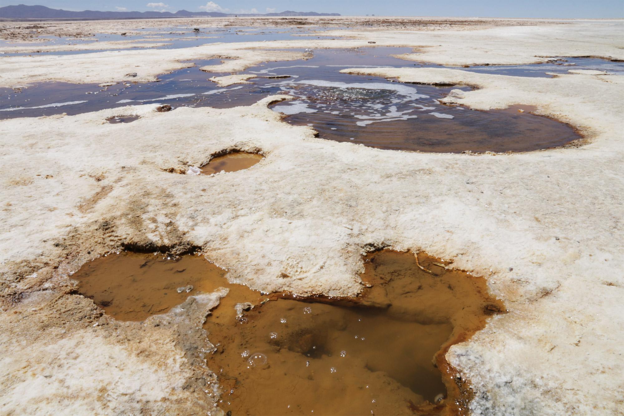 Reisverslag Bolivia: 's wereld grootste zoutvlakte - Vulkanische activiteiten op de Salar de Uyuni