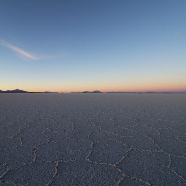 Reisverslag Bolivia: 's wereld grootste zoutvlakte - Zonsopkomst op de Salar de Uyuni