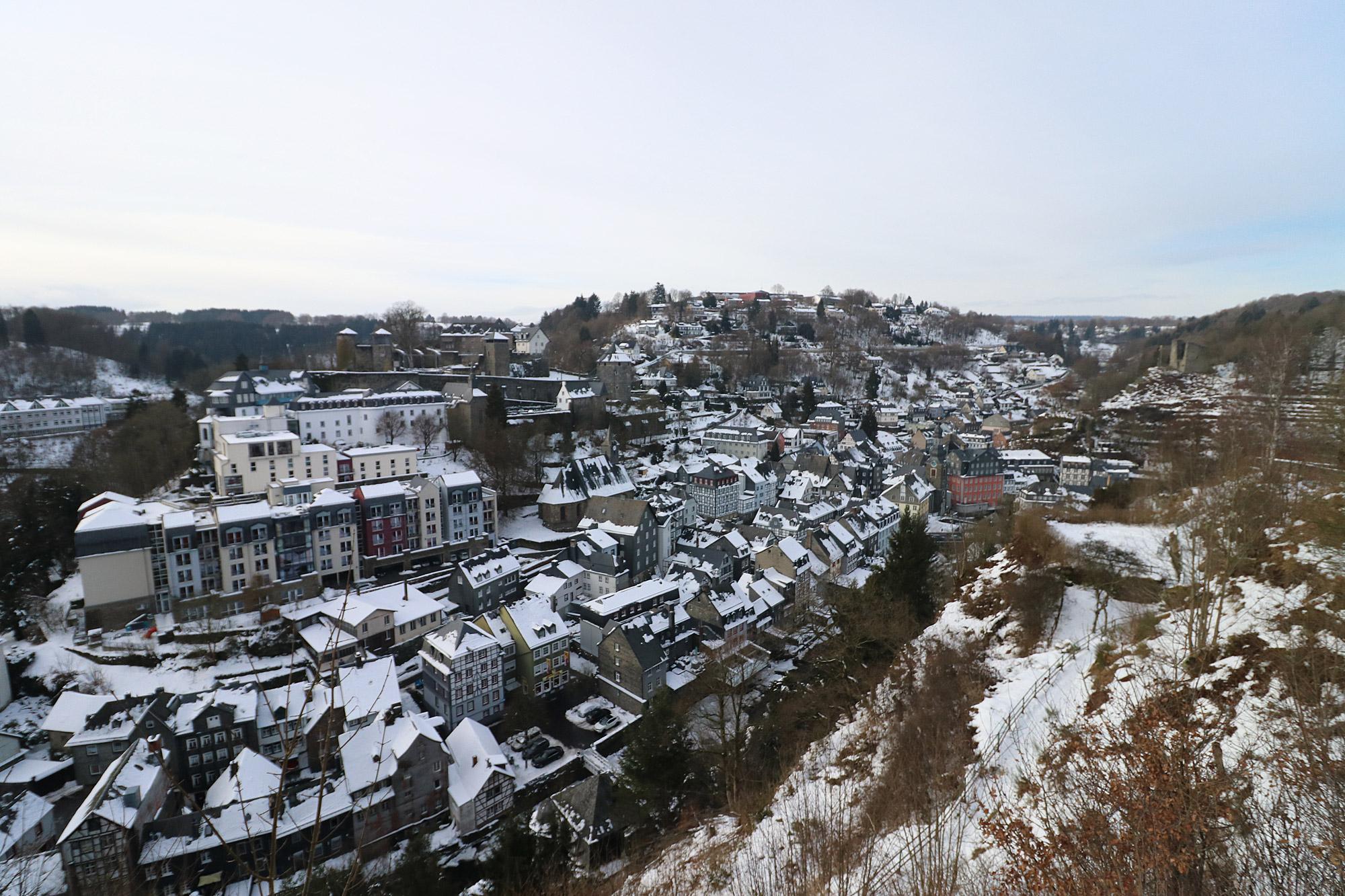 Stedentrip Monschau - Uitzichtpunt vanaf het Stadtpark