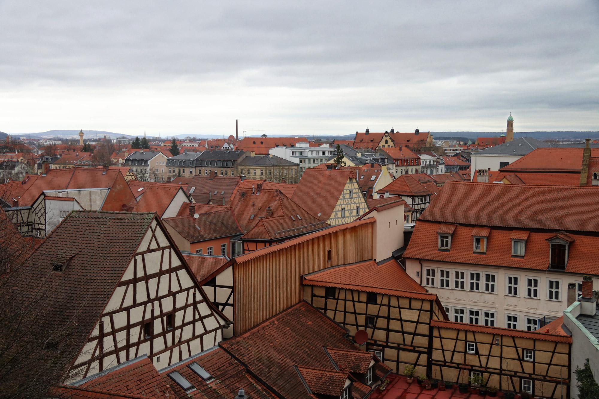 Bamberg in 10 beelden - Uitzicht vanaf de Neuer Residenz