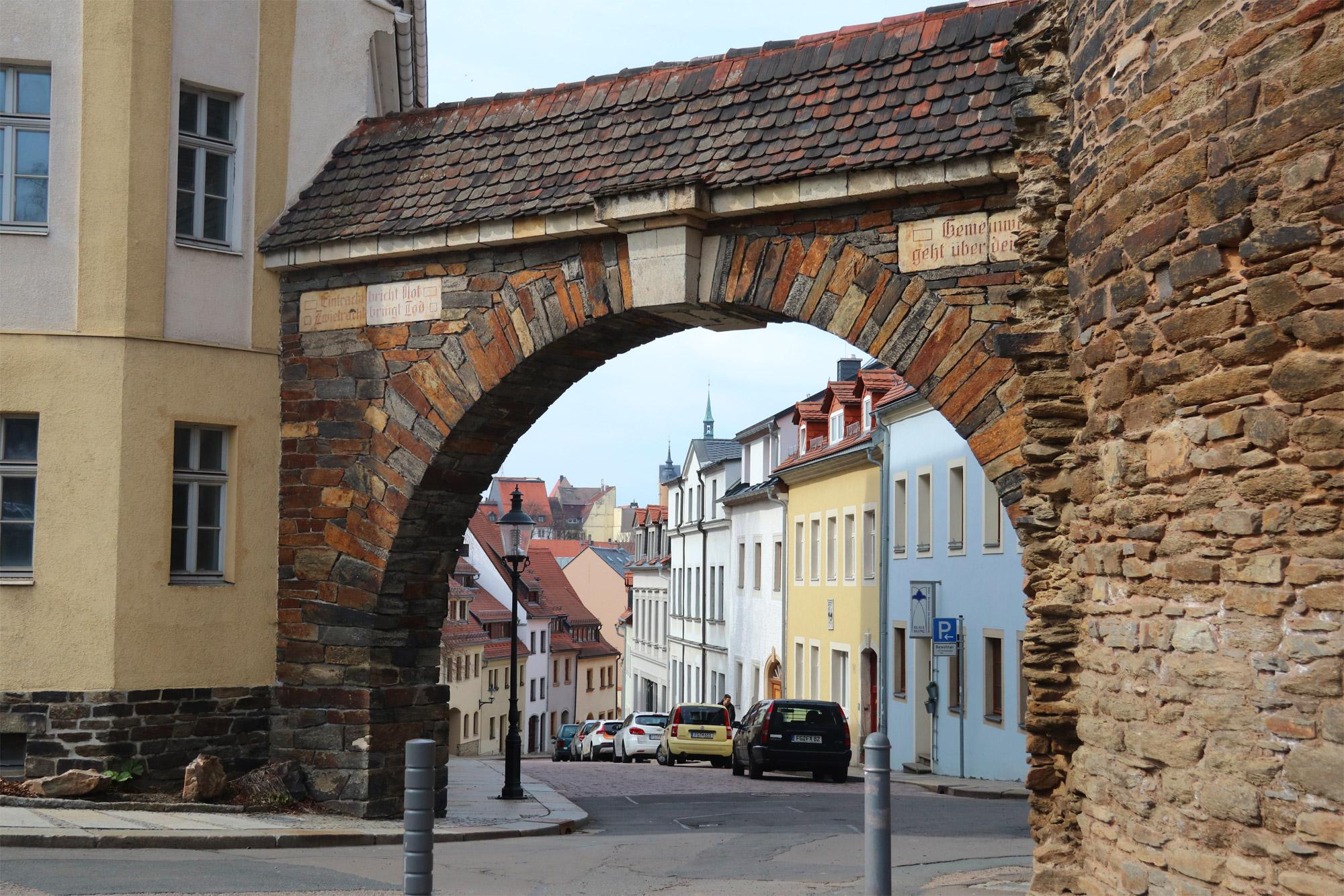 Freiberg, de zilverstad in Saksen - Donatstor