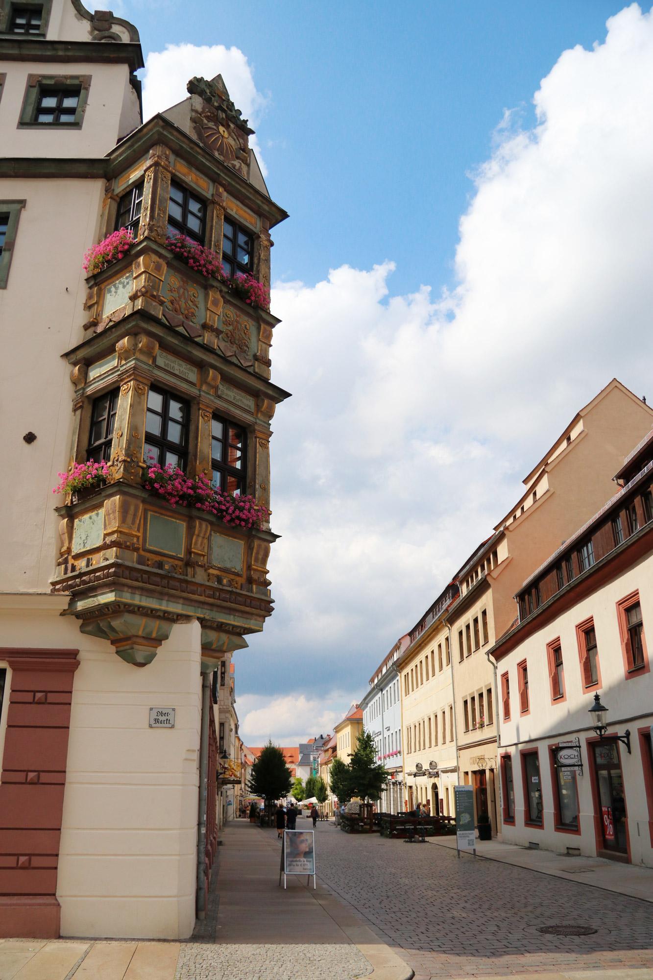 Freiberg, de zilverstad in Saksen - Mooie erker