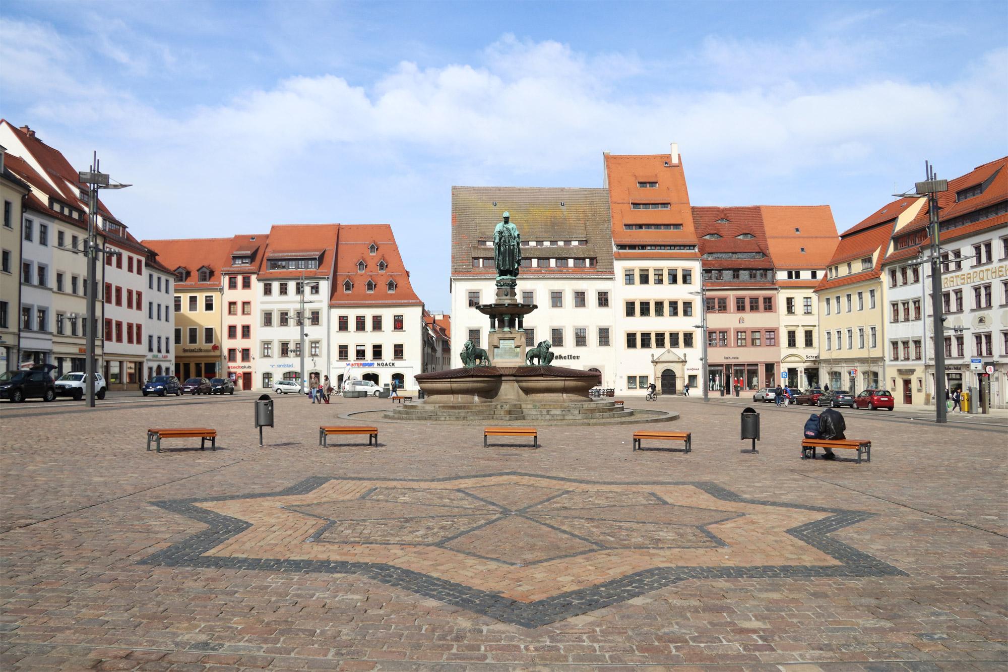Freiberg, de zilverstad in Saksen - Obermarkt
