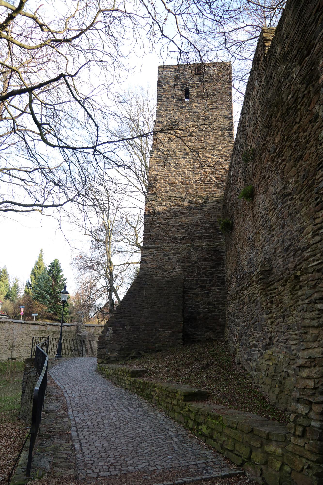 Freiberg, de zilverstad in Saksen - Stadsmuur