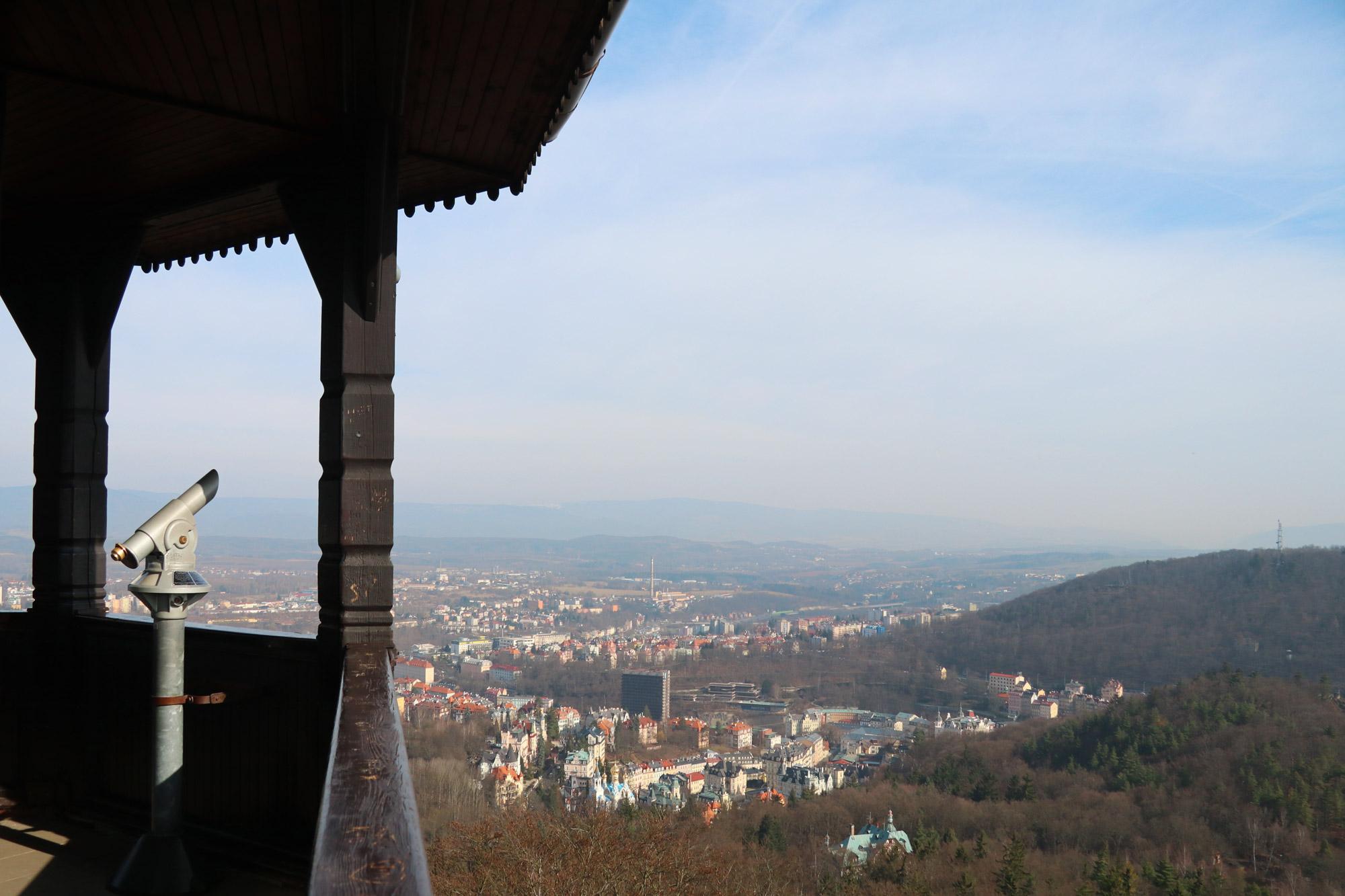 Stedentrip Karlsbad - Uitzicht vanaf de Diana toren