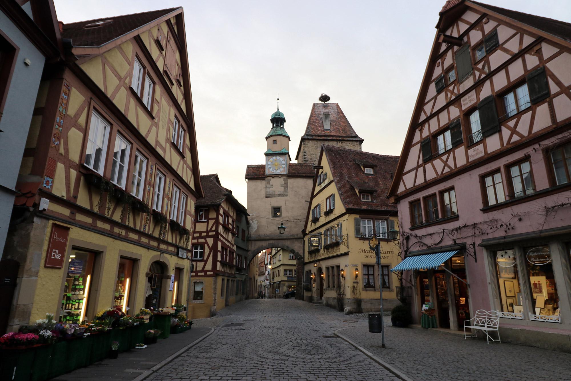 Markusturm en Röderbogenturm - Rothernburg ob der Tauber - Duitsland