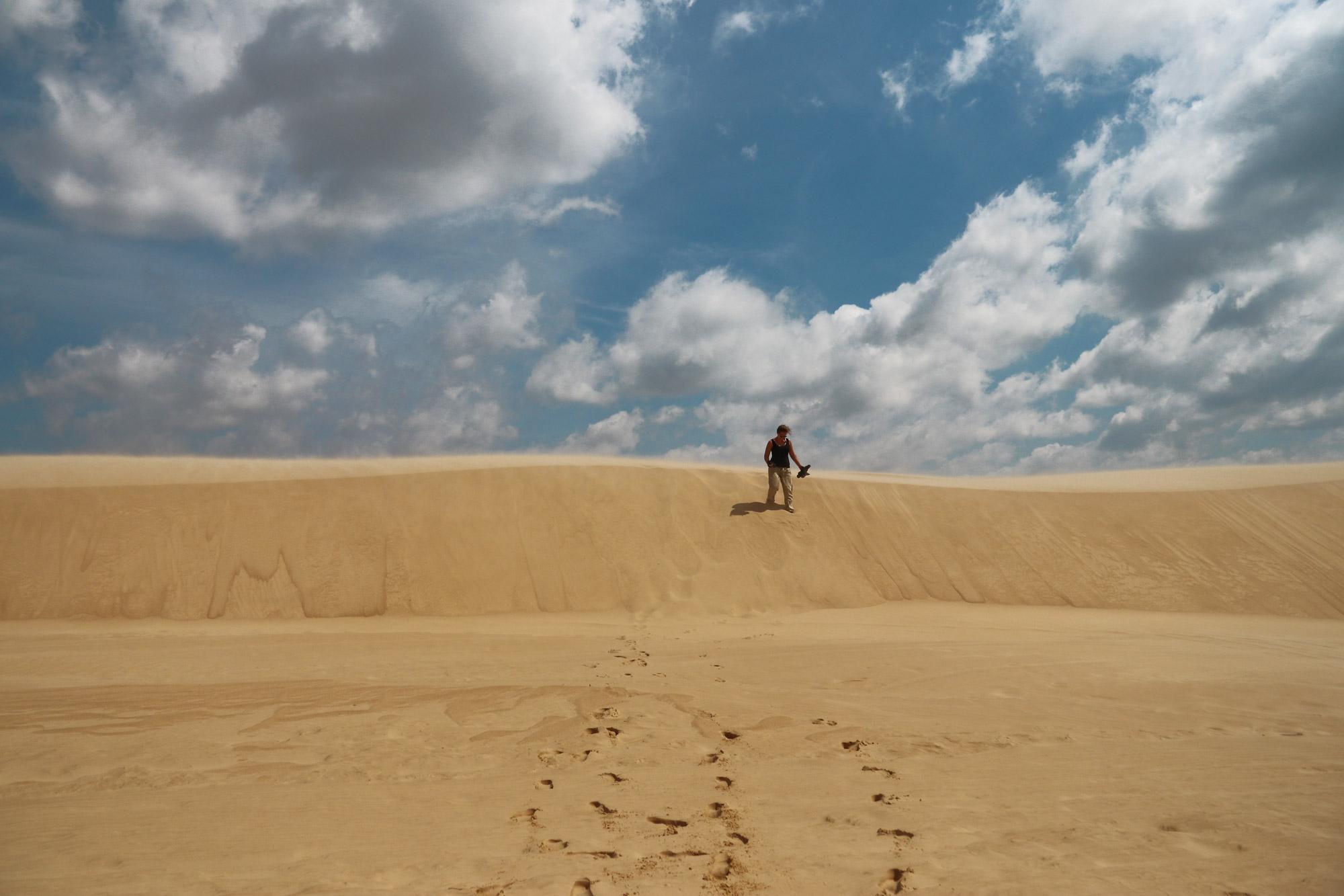 Sandboarden in Lomas de Arena