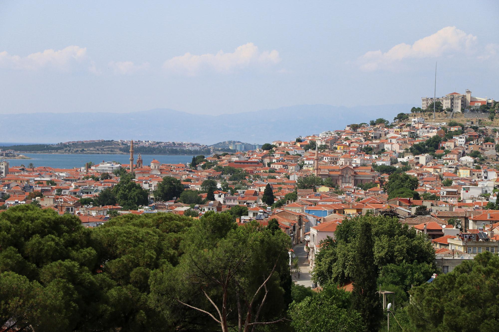 Turkije reisverslag: Bergama en Ayvalik - Uitzicht op Ayvalik