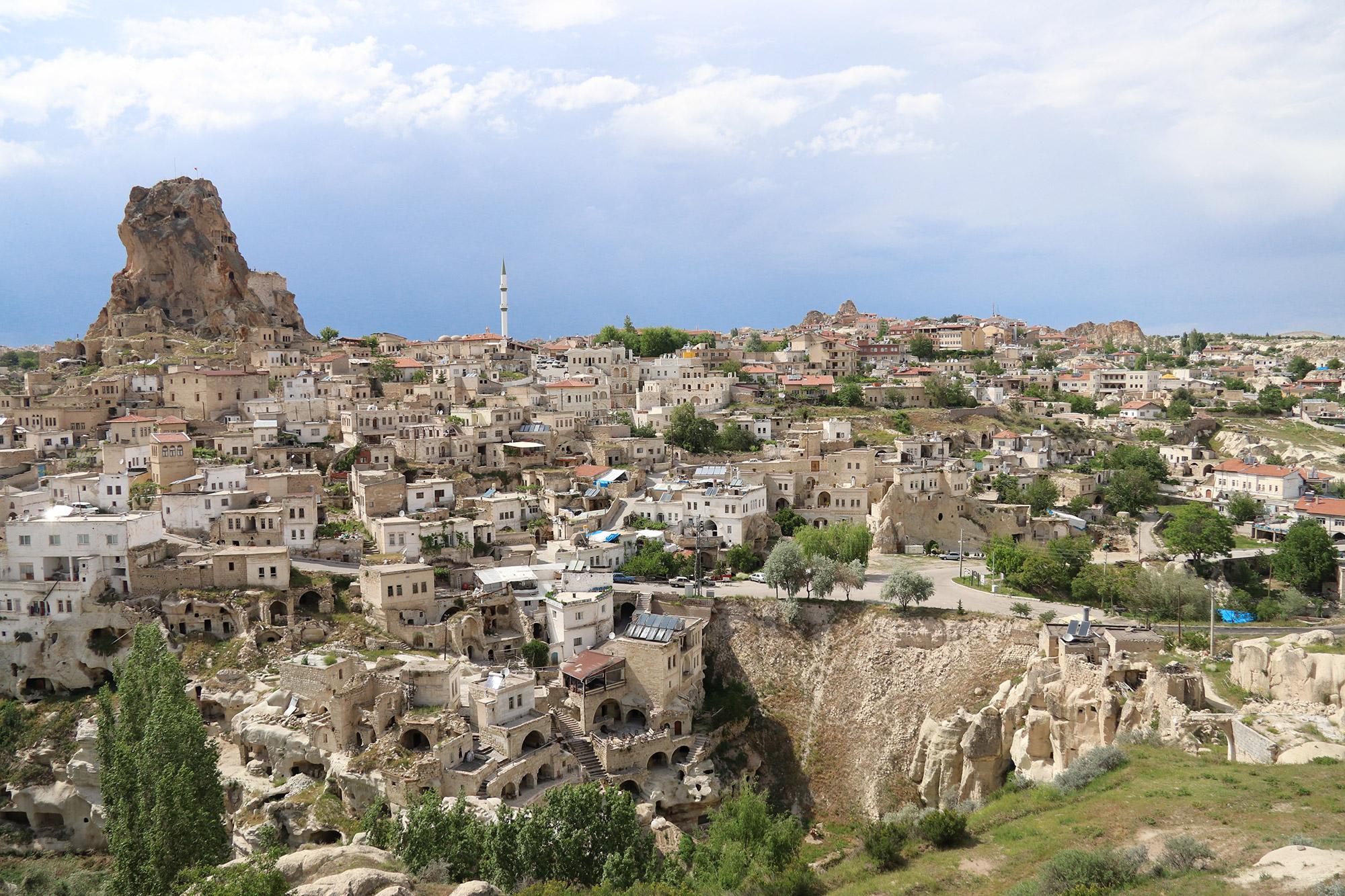 Turkije reisverslag: Magische ballonvaart - Uitzicht op een Grieks dorp
