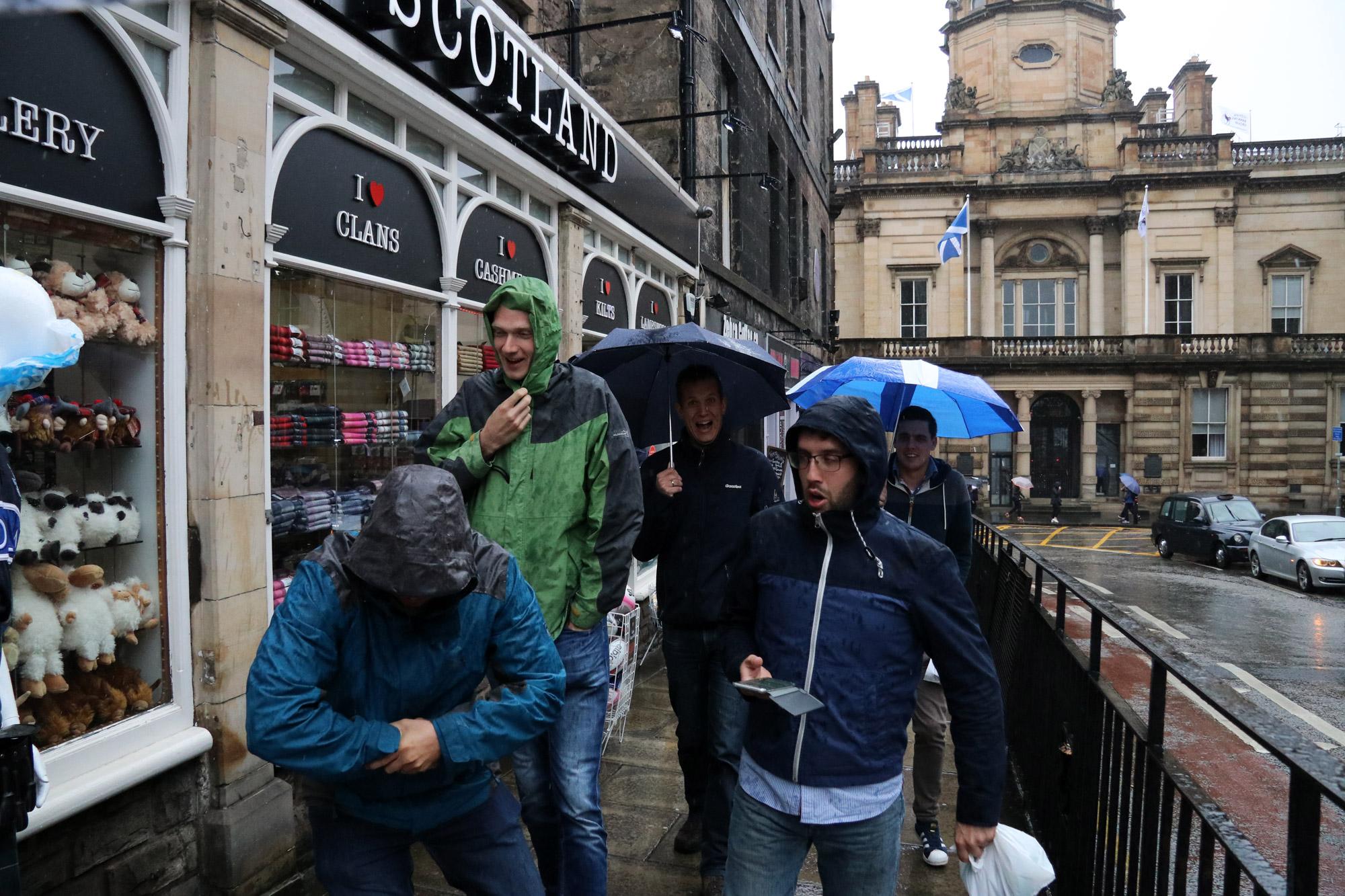 Mannenweekend Edinburgh - Regen