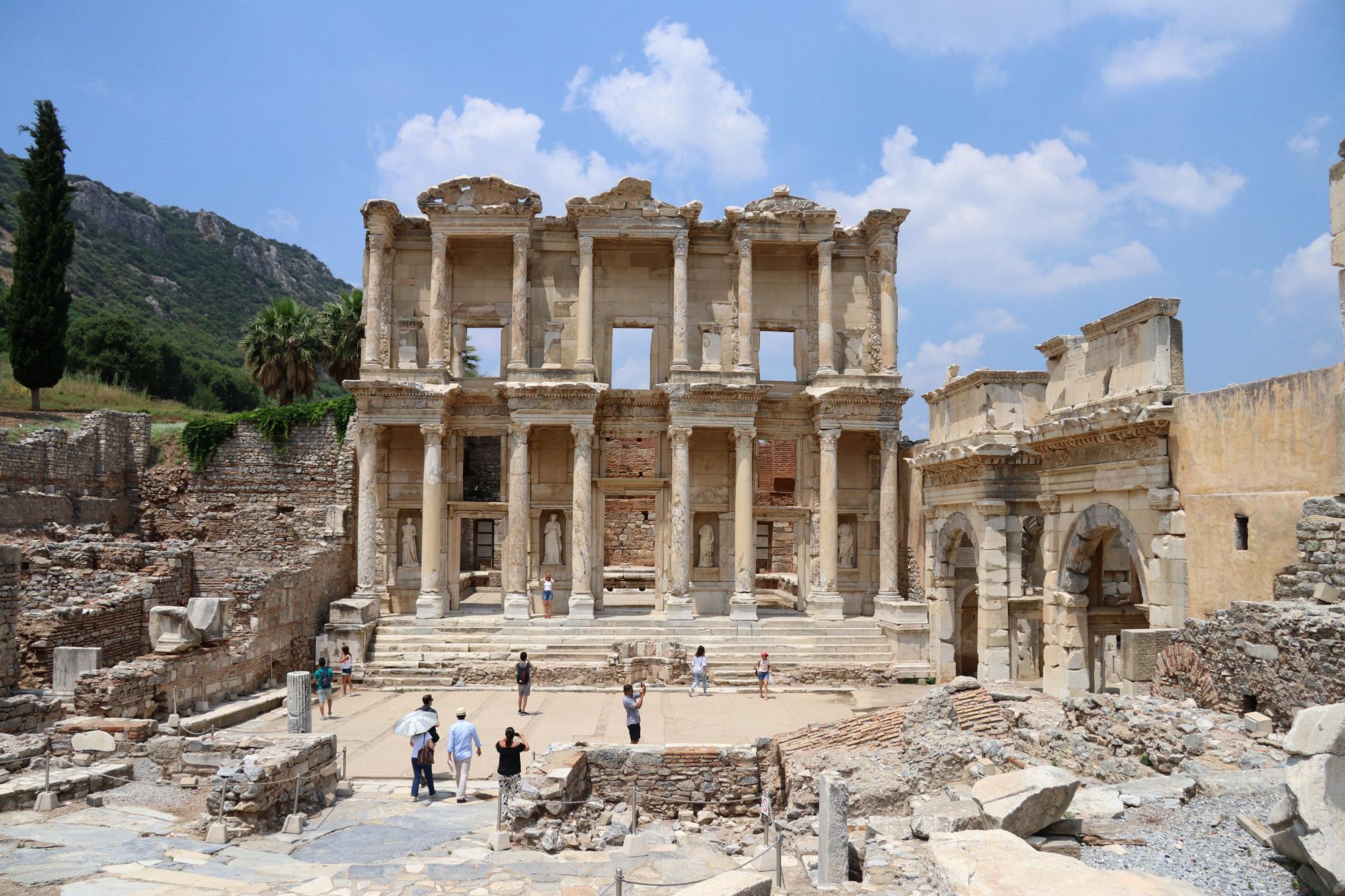 Turkije reisverslag: Efeze en Şirince - Bibliotheek van Celsus