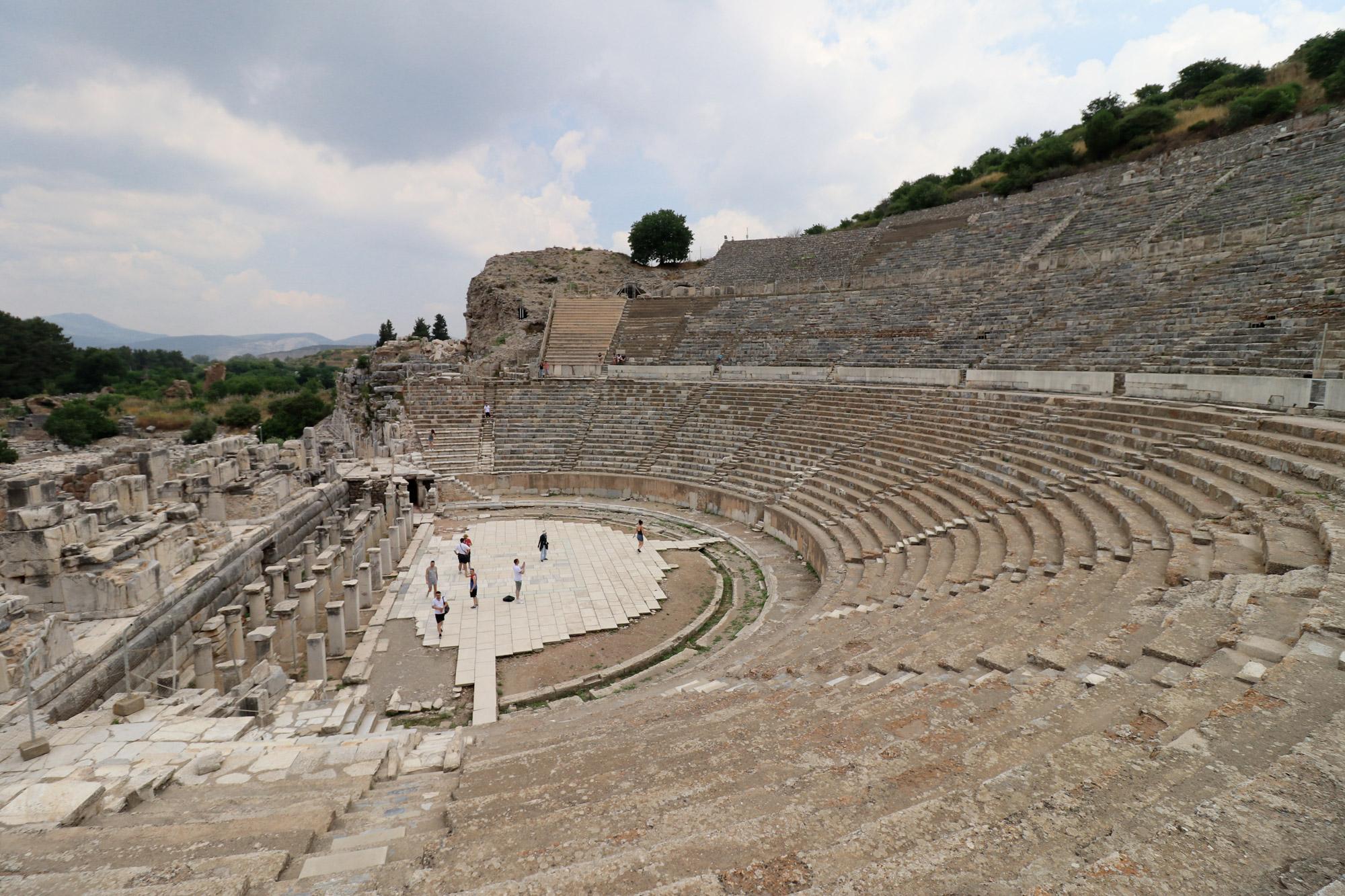 Turkije reisverslag: Efeze en Şirince - Theater van Efeze