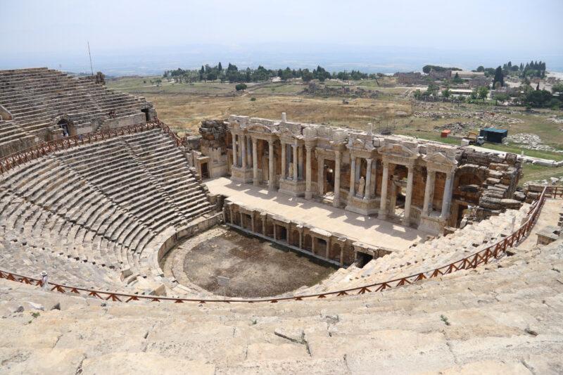Turkije reisverslag: Pamukkale en Hiërapolis - Theater