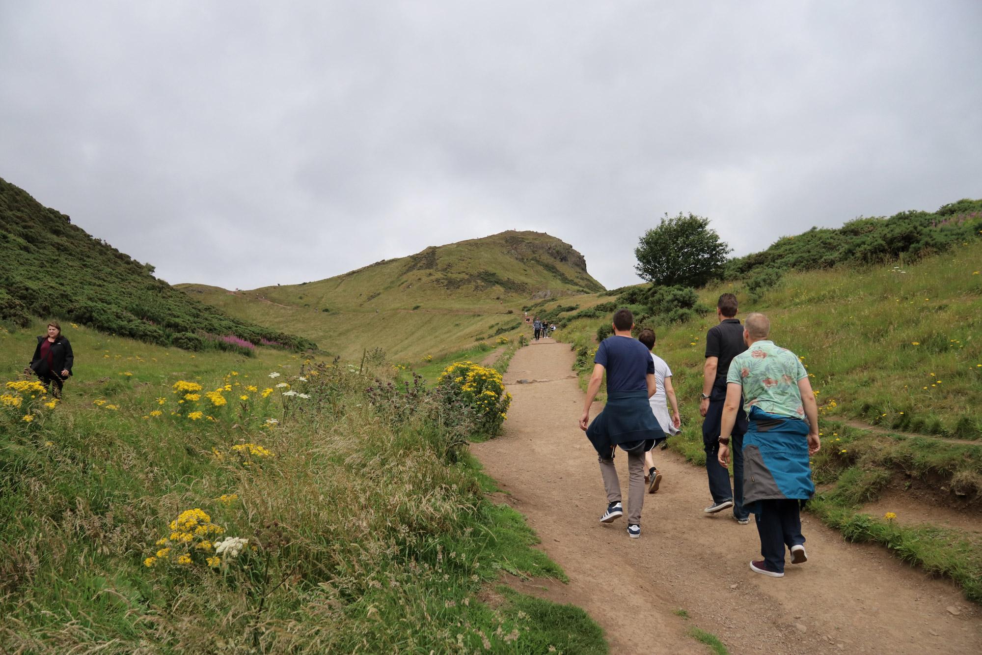 Mannenweekend in Edinburgh - Beklimming van Arthur's Seat