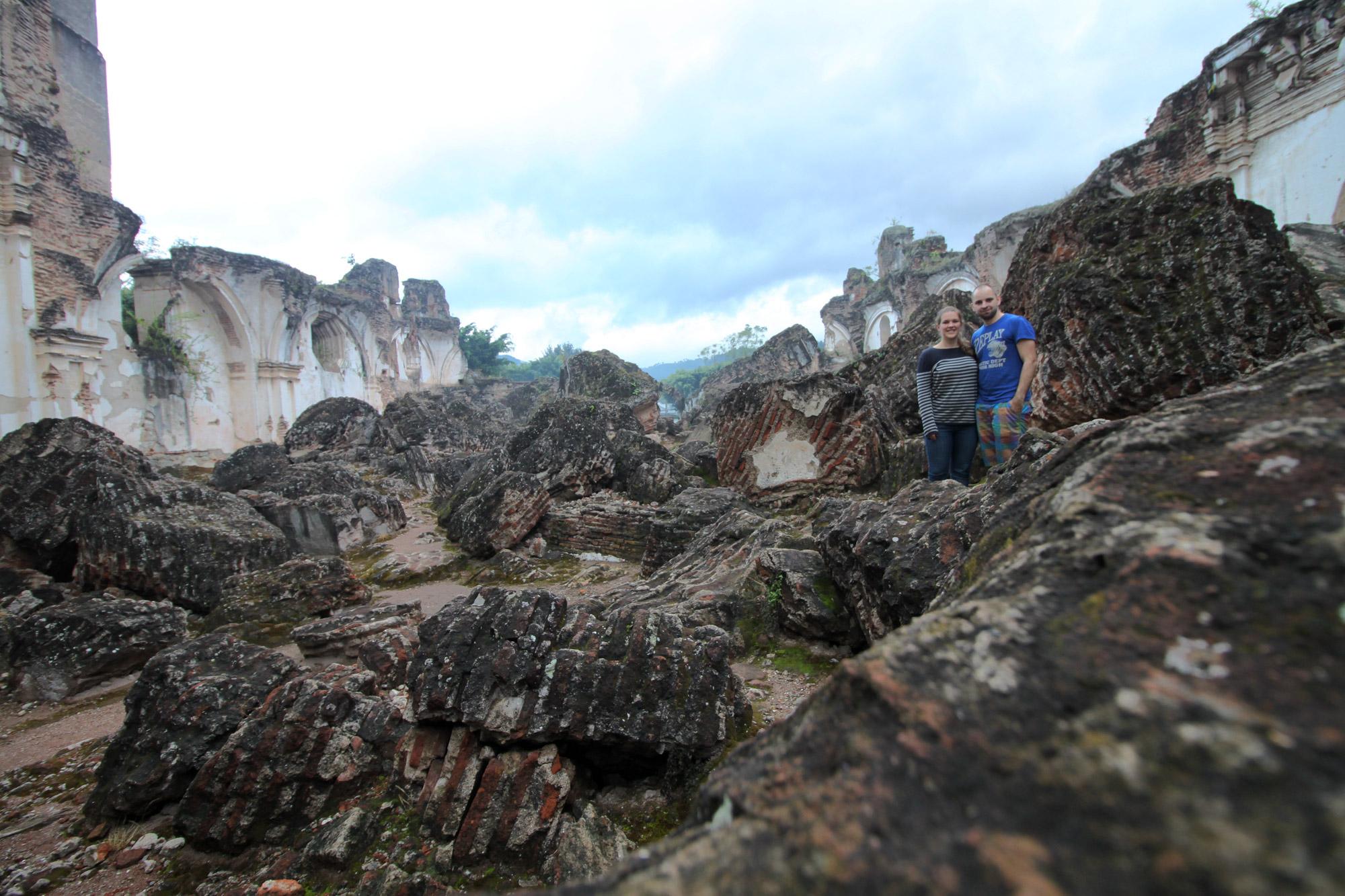 De ruïnes van Antigua - Iglesia y Convento de la Recoleccion