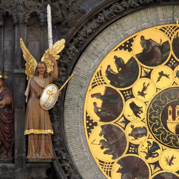 Fietsen door Praag - Astronomisch uurwerk