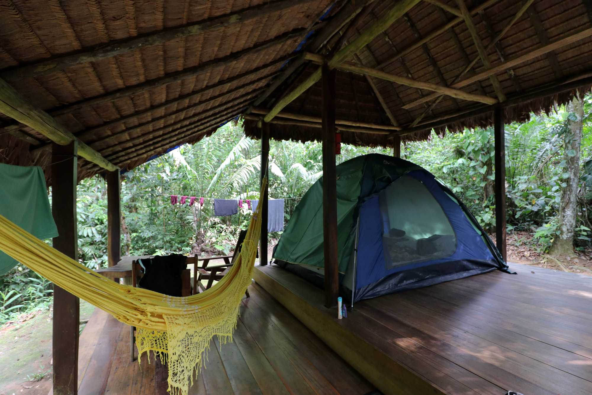 Bolivia 2016 - Dag 15 - Onze tenten in Berraco del Madidi