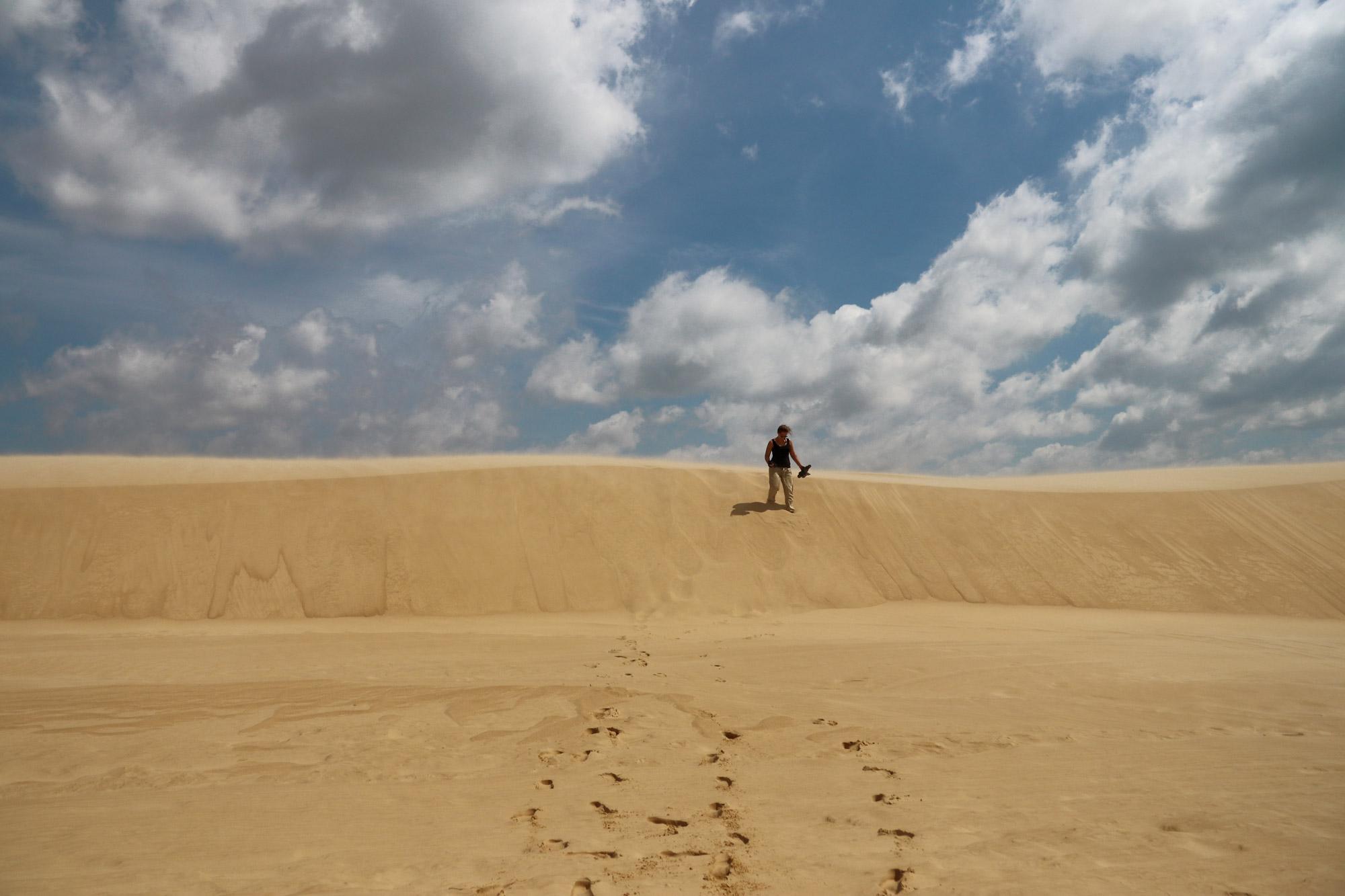 Bolivia 2016 - Dag 3 - Sandboarden bij Parque Regional Lomas de Arena