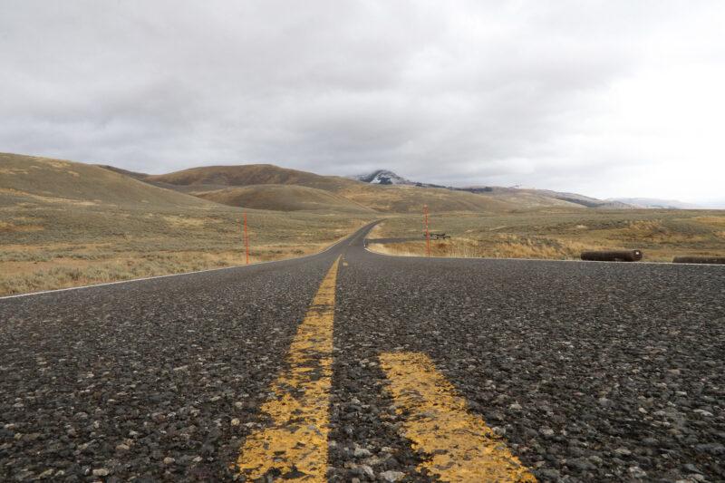 Amerika dag 4 - Yellowstone National Park - Einde van de Blacktail Plateau Drive