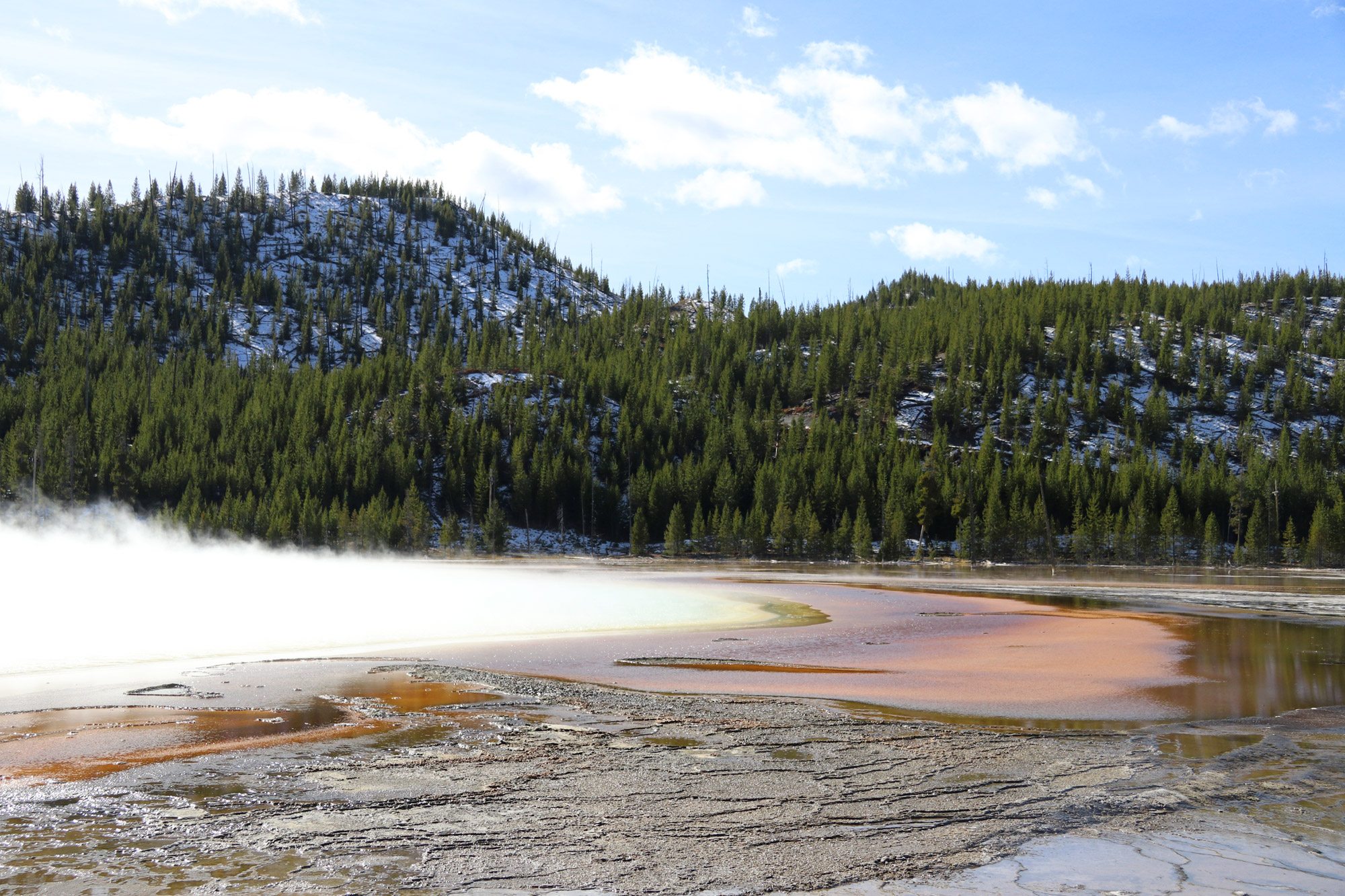 Amerika dag 5 - Yellowstone National Park - Grand Prismatic Spring