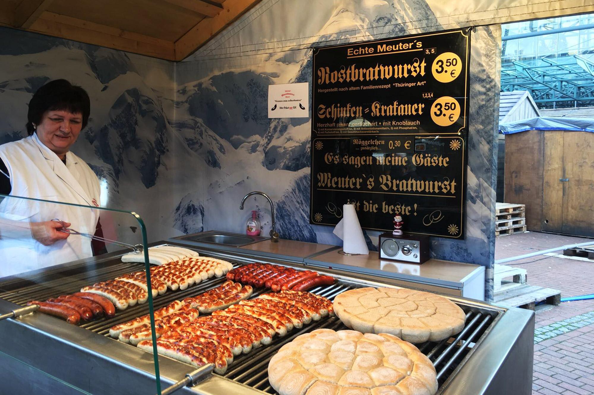 Oberhausen kerstmarkt, mijn tips - Bratwurst