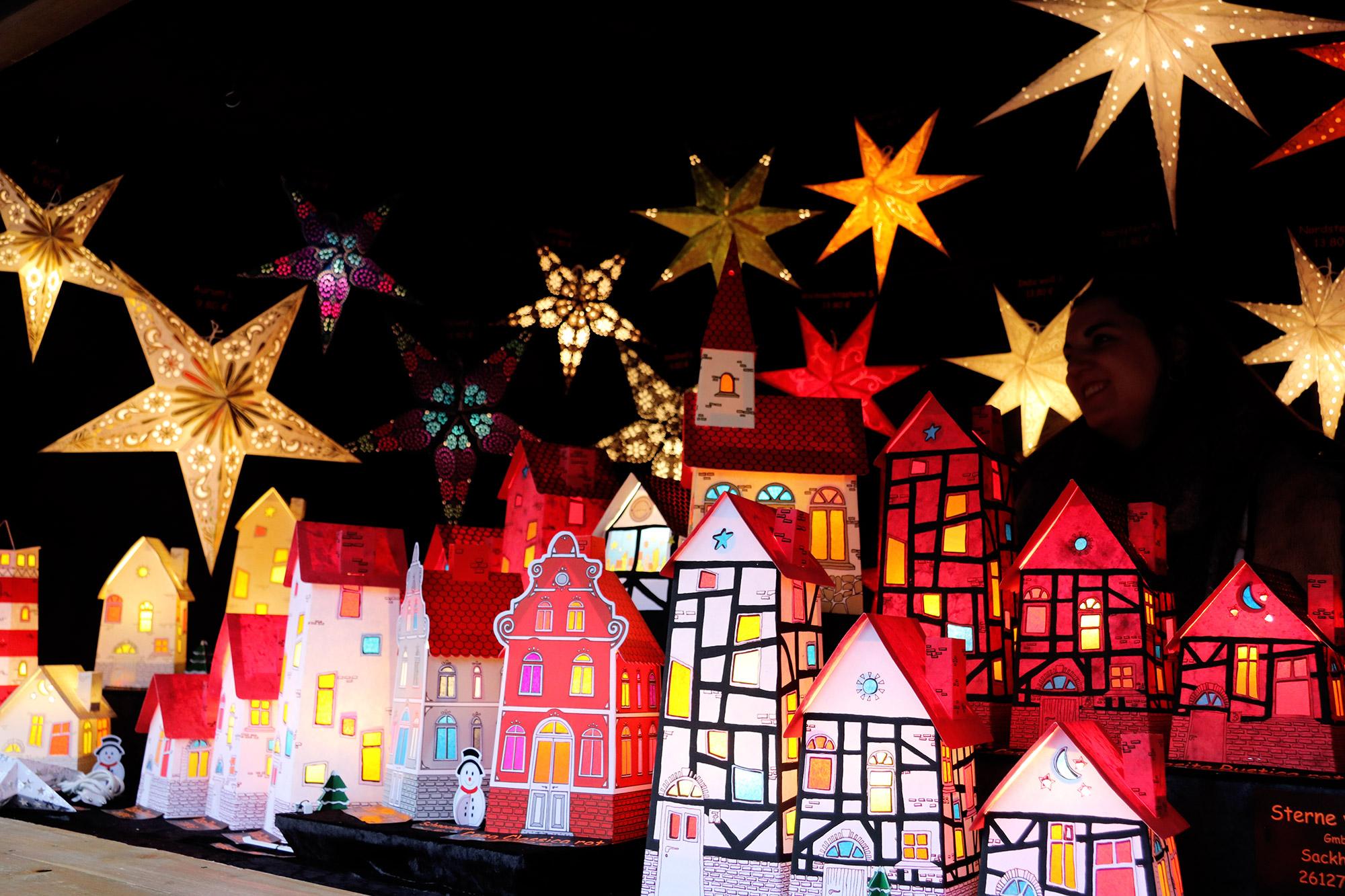 Oberhausen kerstmarkt, mijn tips - Lichthuisjes