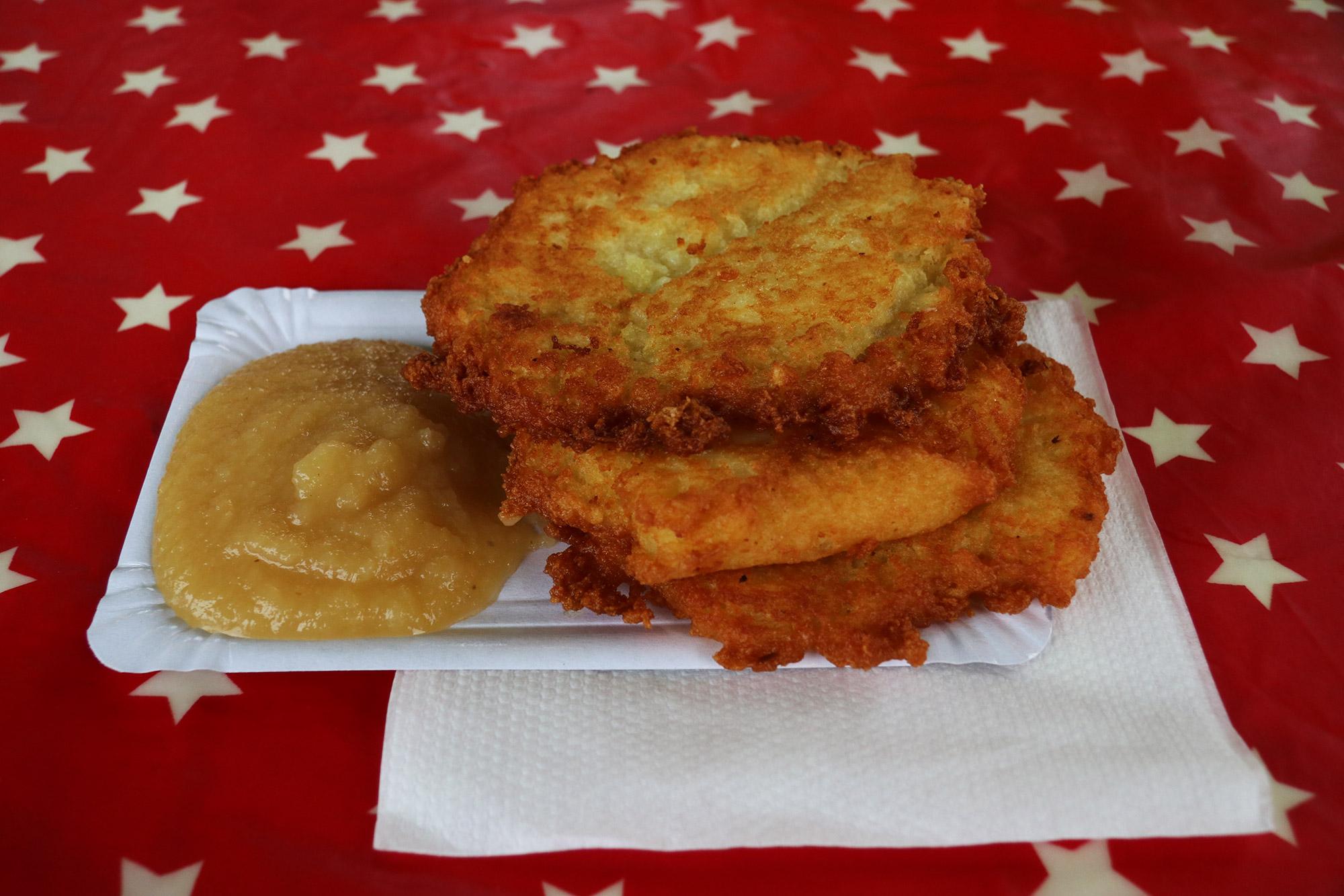 Oberhausen kerstmarkt, mijn tips - Reibekuchen
