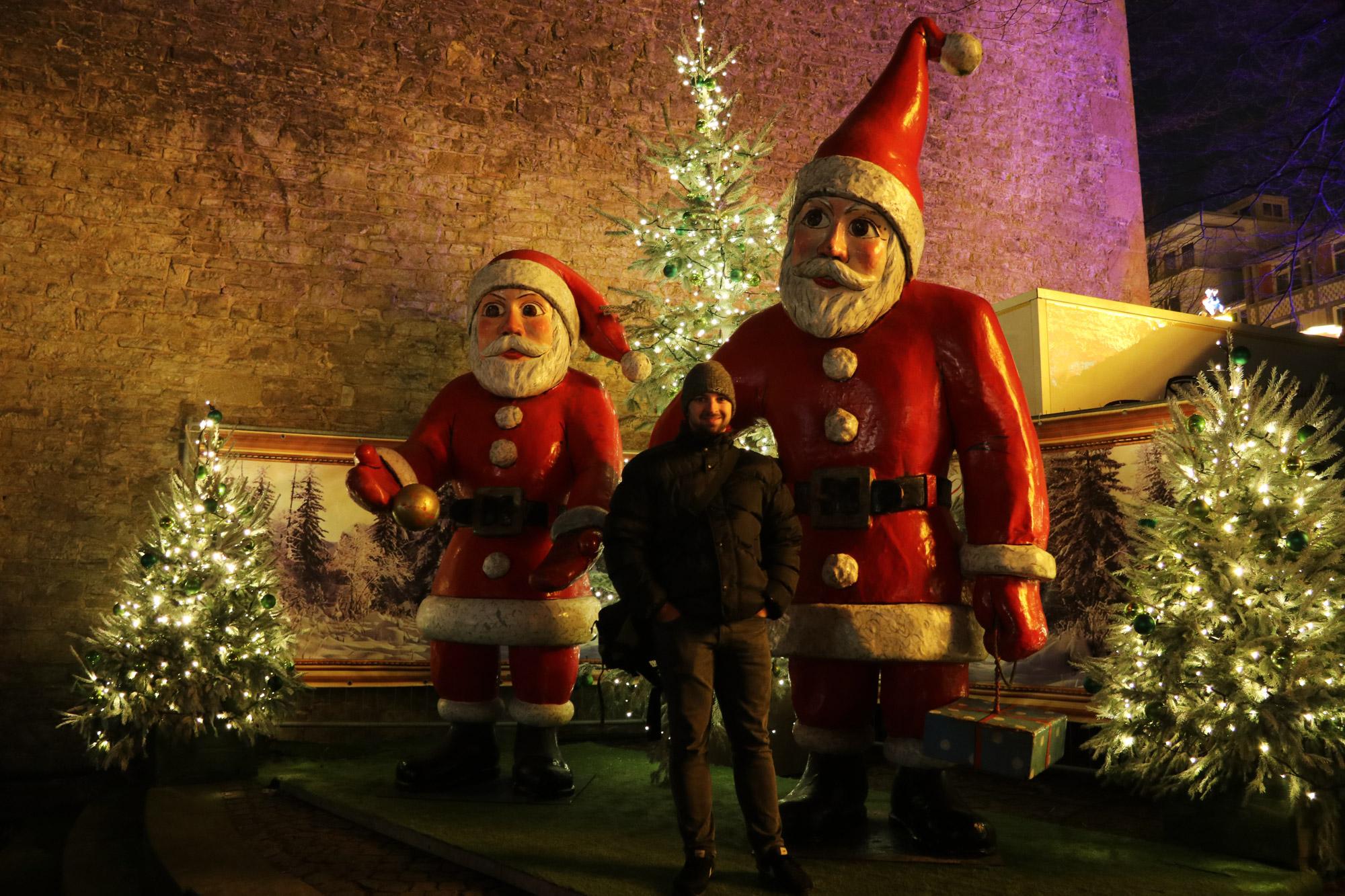 Bielefeld kerstmarkt - Kerstmanpoppen