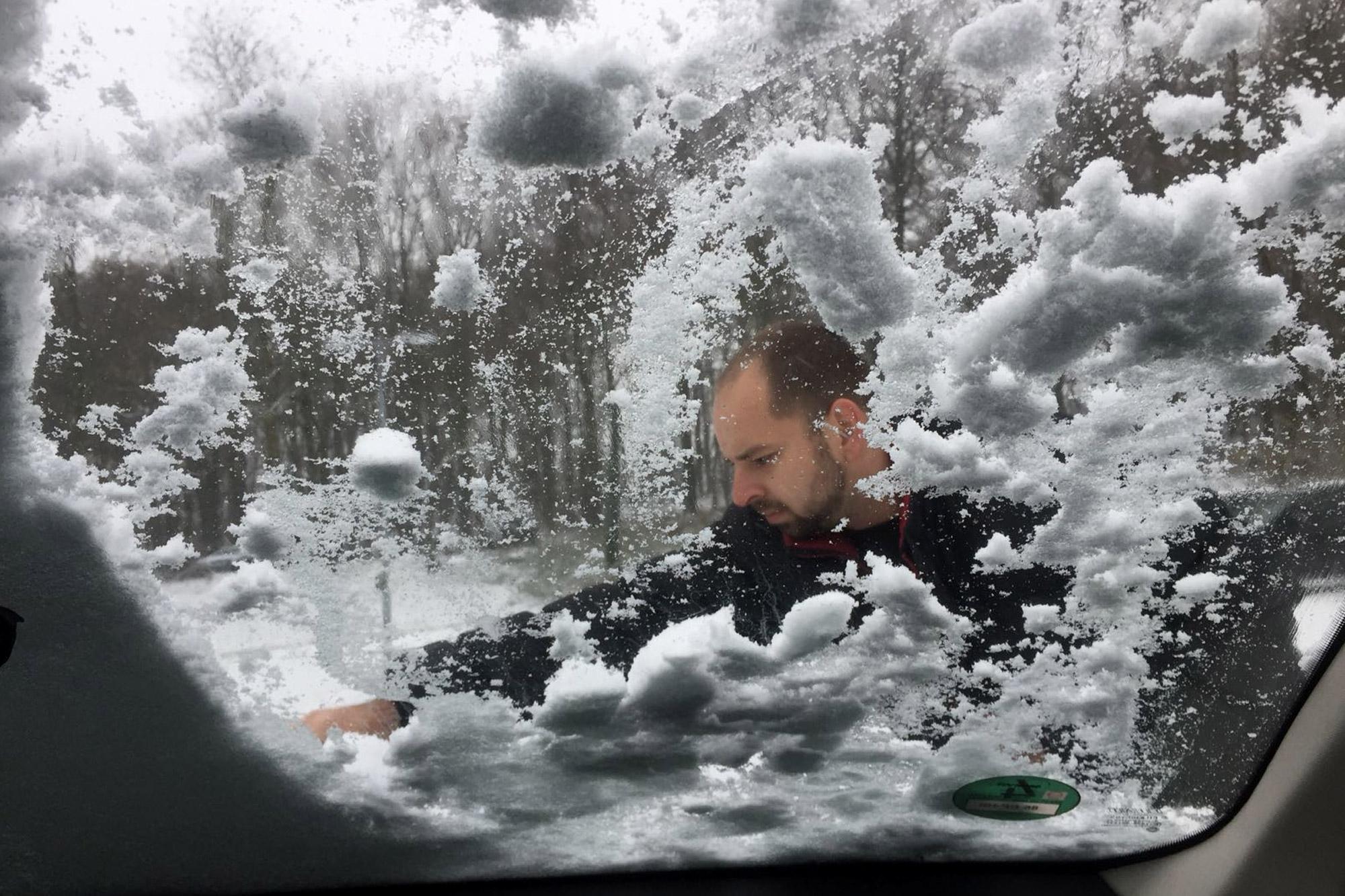 Bielefeld - Sneeuw