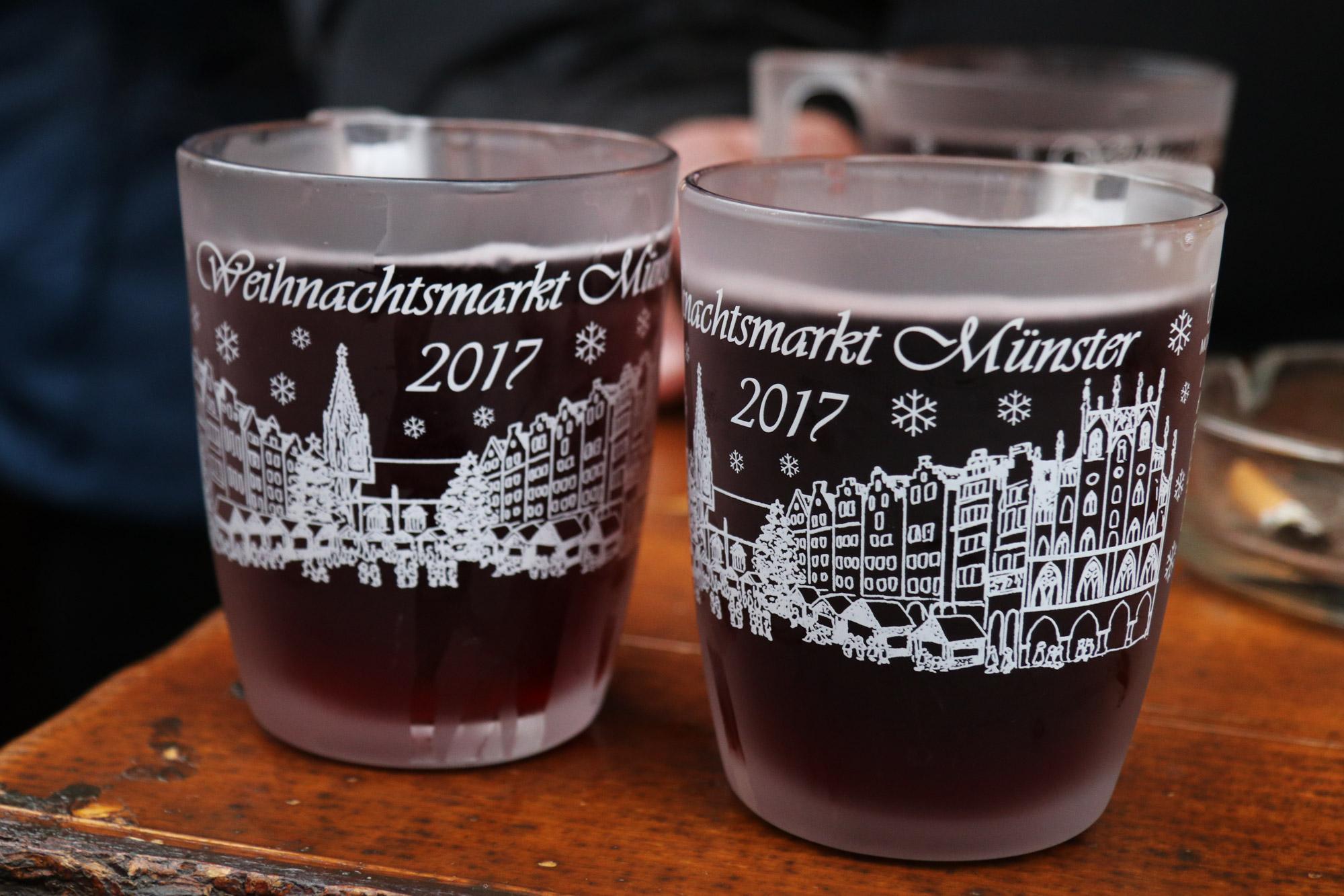 Münster kerstmarkt - Glühwein